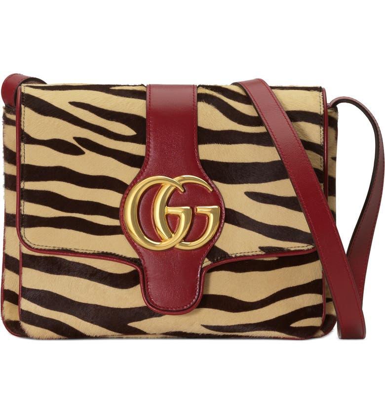 388021e6f95 Gucci Medium Arli Tiger Print Genuine Calf Hair   Leather Shoulder ...