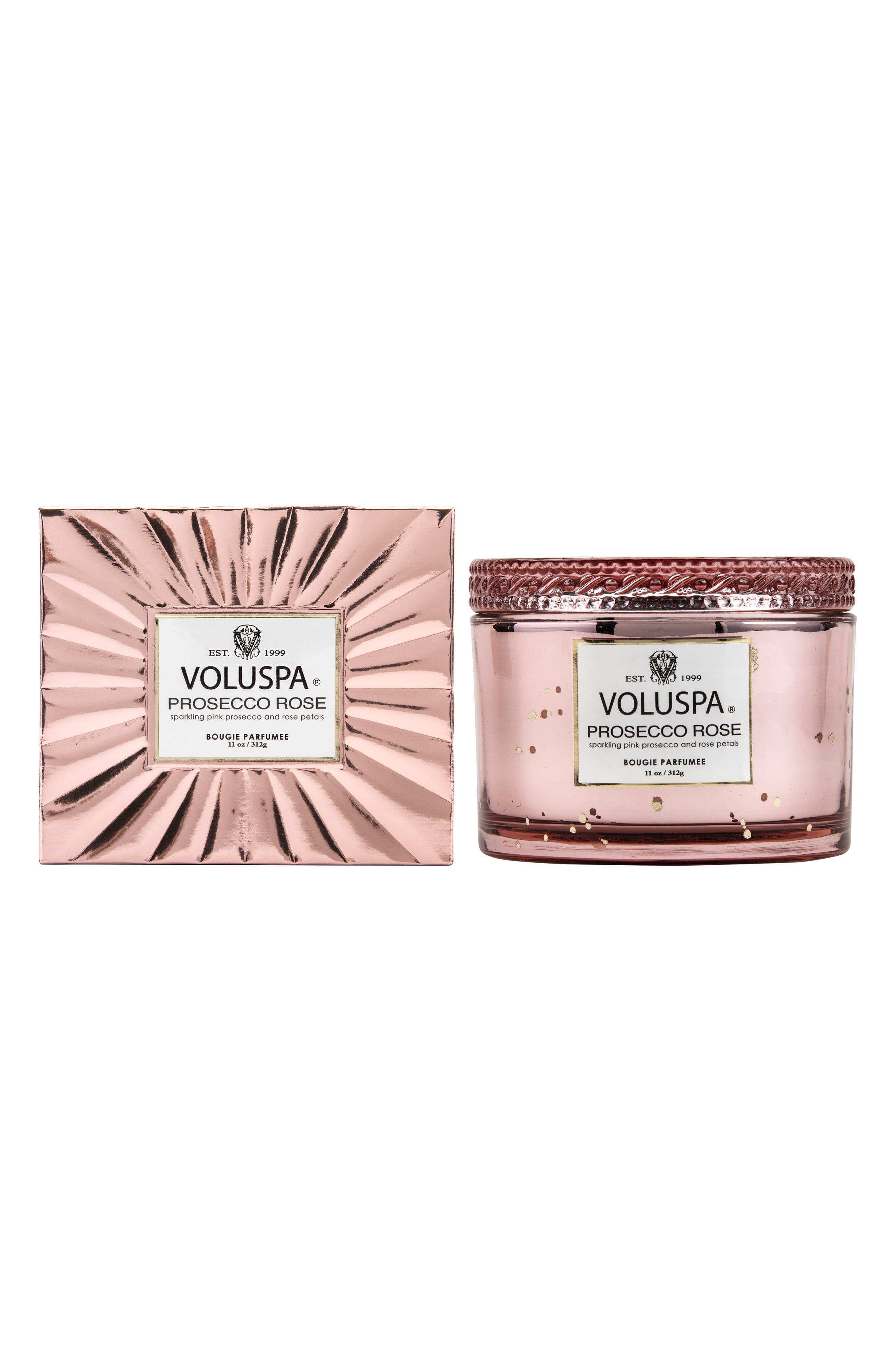VOLUSPA, Vermeil Prosecco Rose Corta Maison Candle, Alternate thumbnail 2, color, NO COLOR