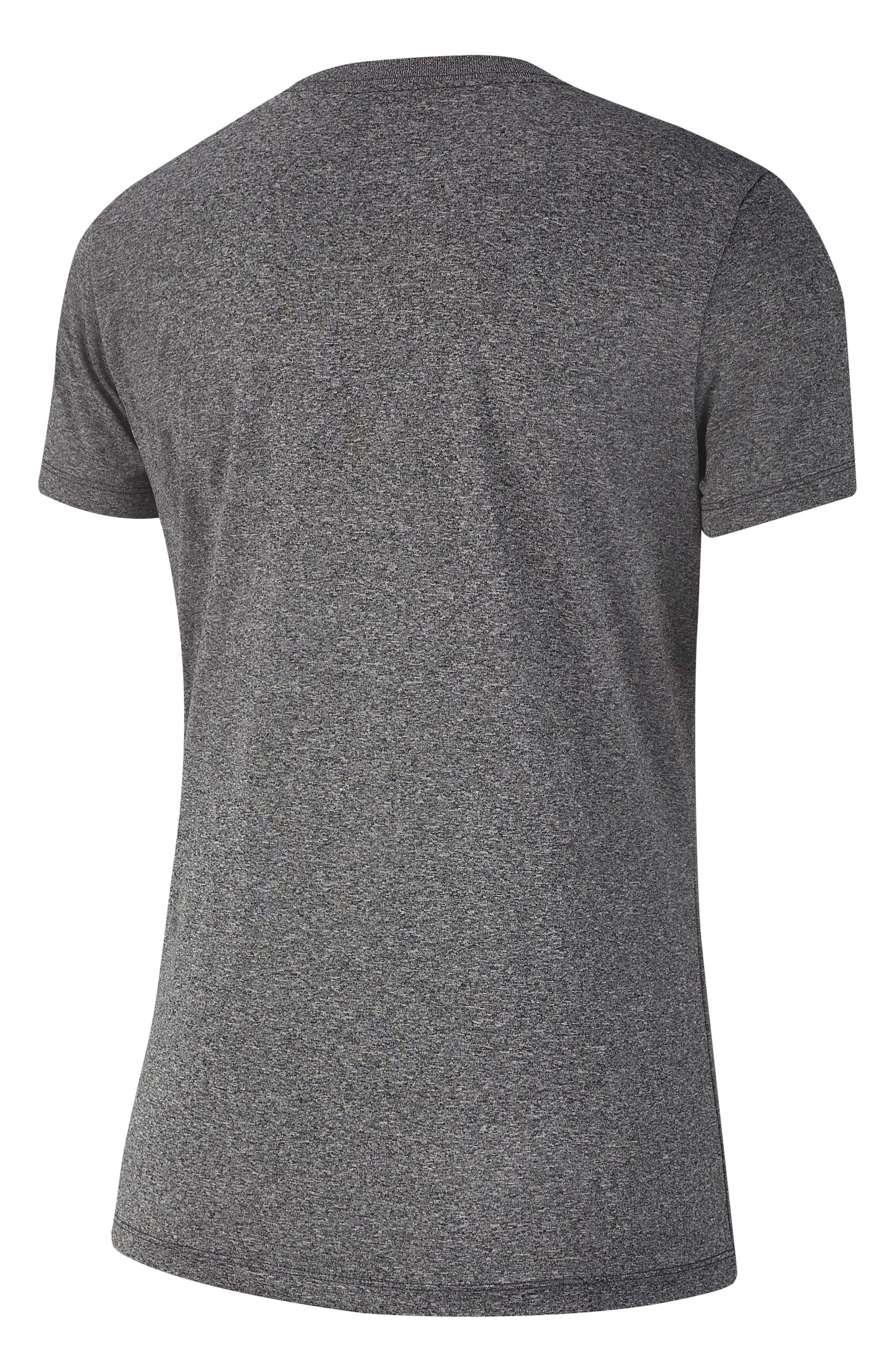 NIKE, Dry Legend Training Tee, Alternate thumbnail 2, color, BLACK/ HEATHER