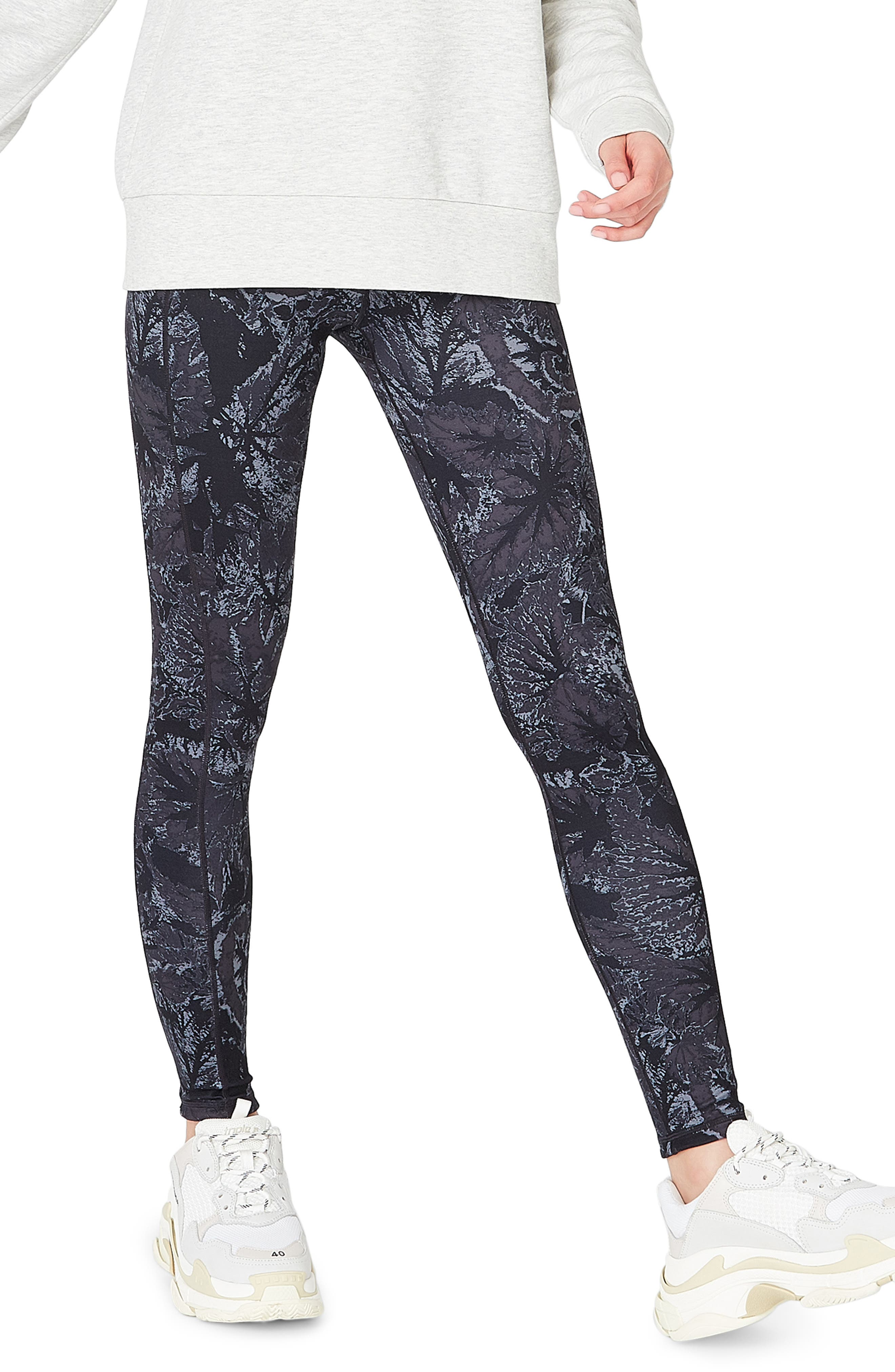 SWEATY BETTY, Reversible Yoga Leggings, Main thumbnail 1, color, TONAL BEGONIA PRINT
