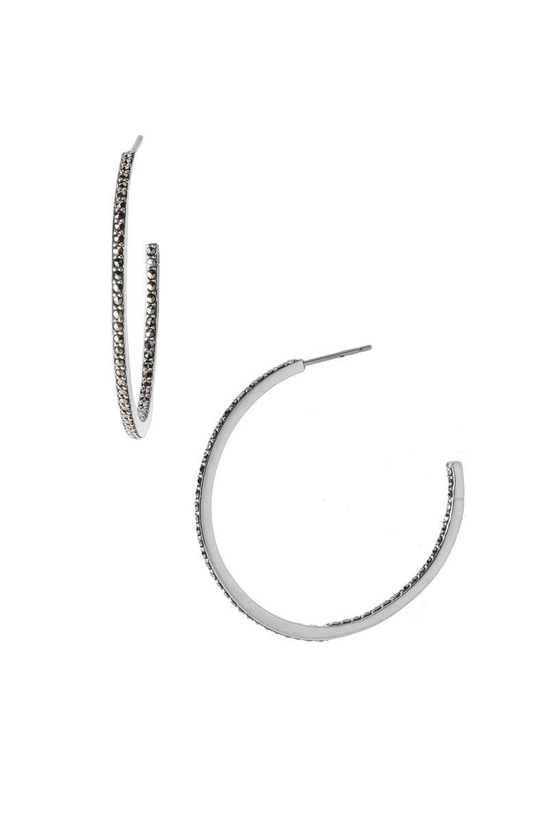 0669aa63c JUDITH JACK Marcasite Hoop Earrings, Main, color, 040