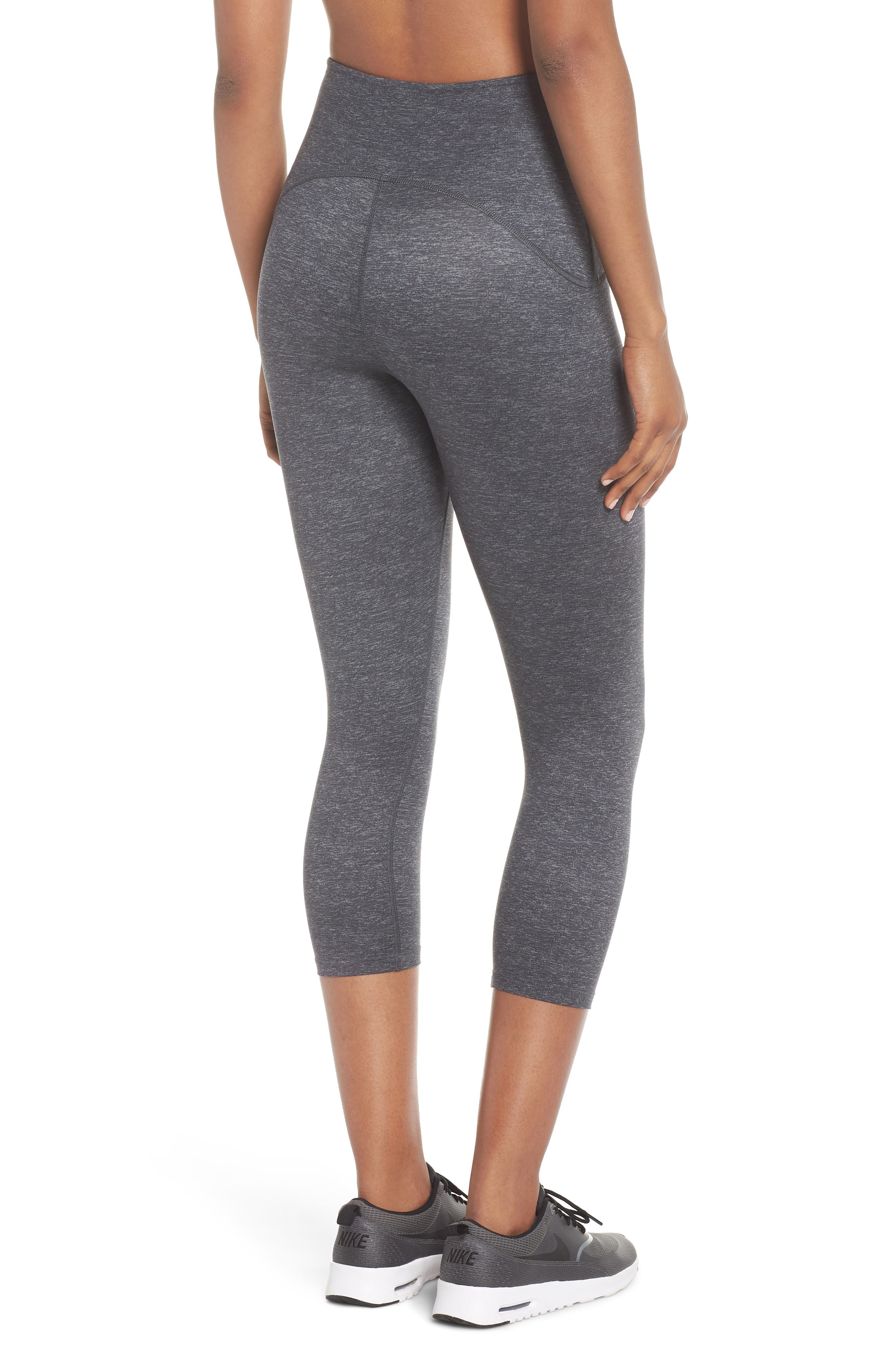 SPANX<SUP>®</SUP>, Active Print Crop Leggings, Alternate thumbnail 2, color, MARLED HEATHER
