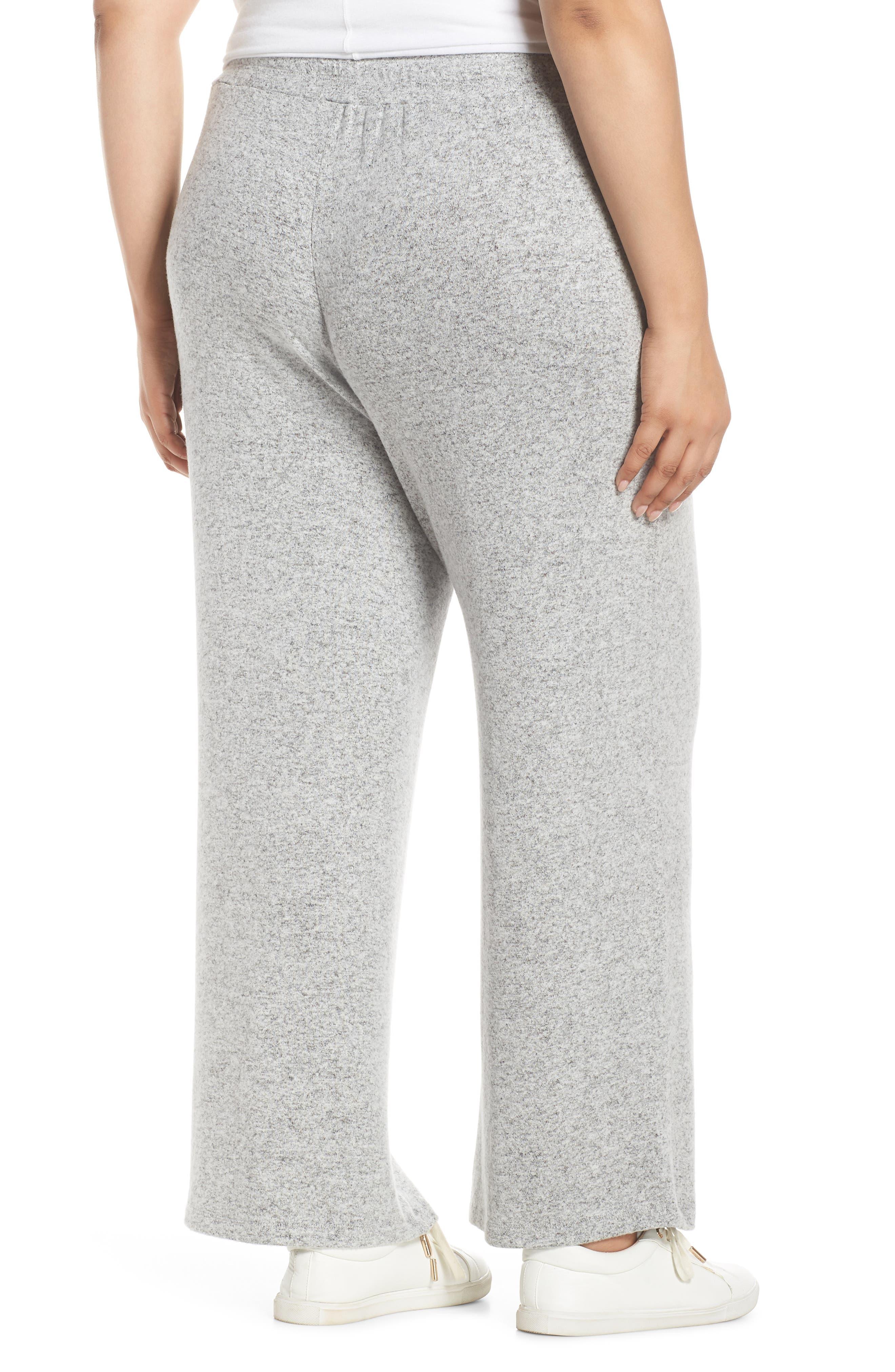LEMON TART, Norah Knit Lounge Pants, Alternate thumbnail 2, color, HEATHER GREY