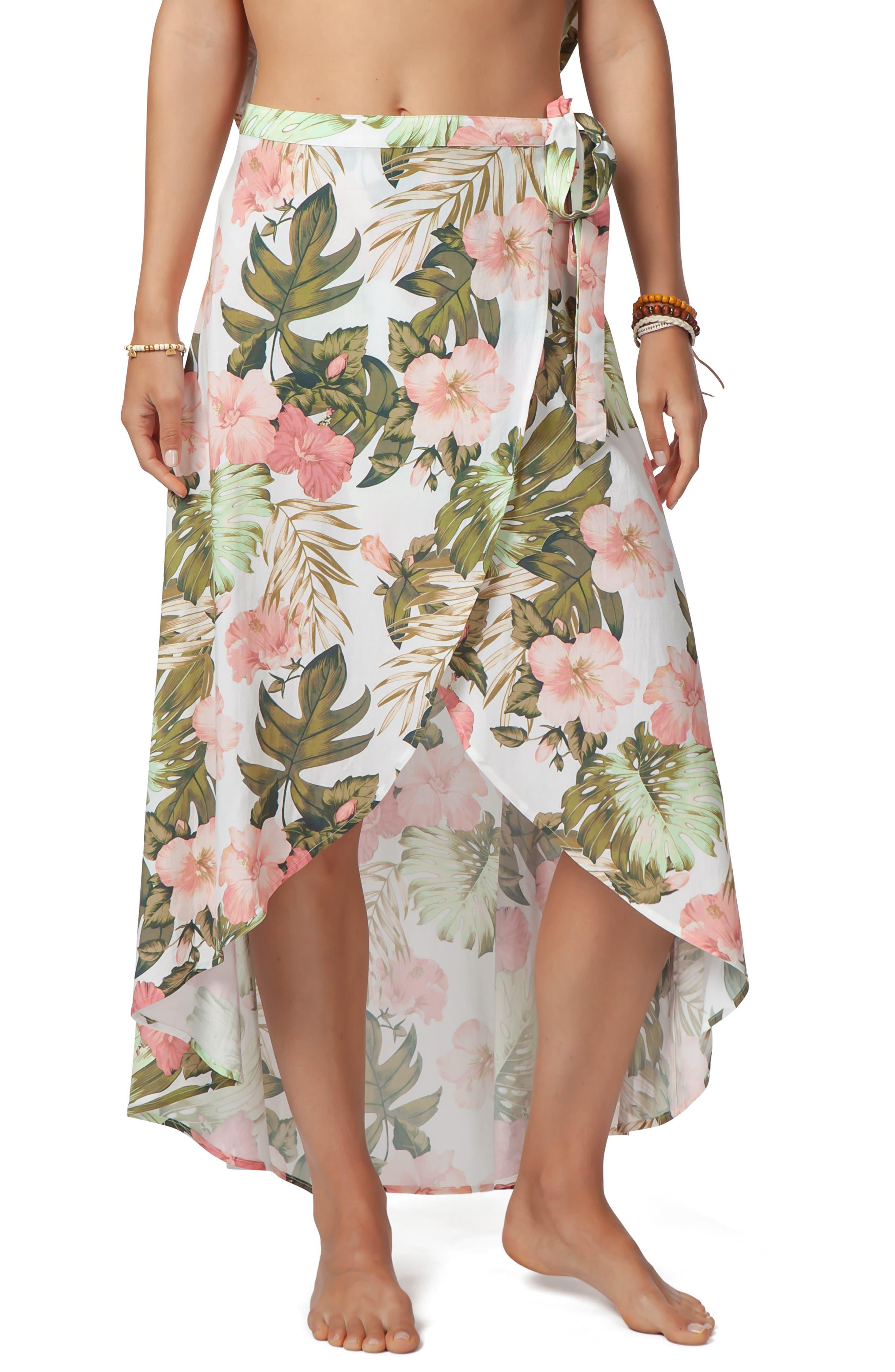 RIP CURL Hanalei Bay Wrap Skirt, Main, color, 100