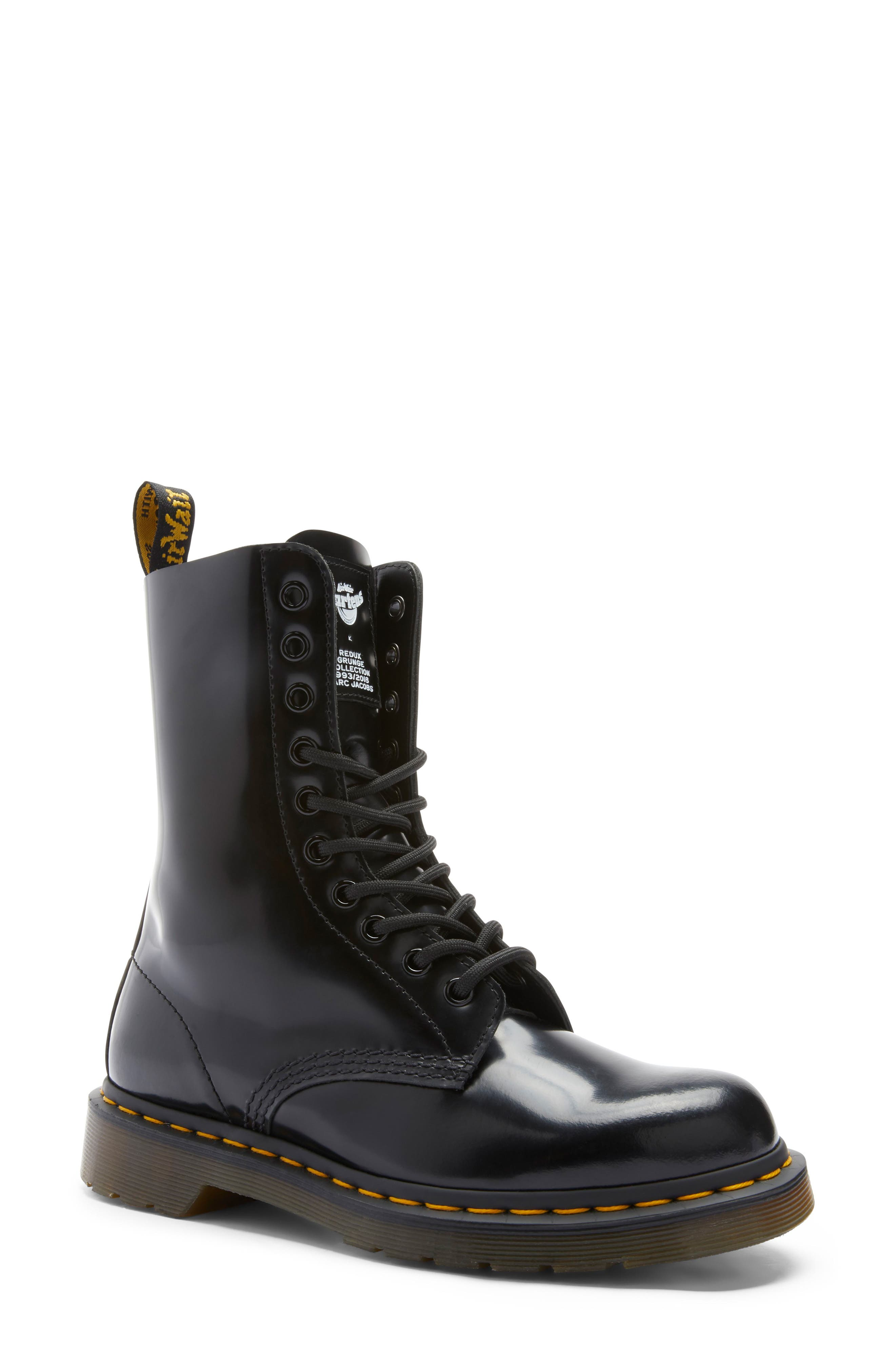 MARC JACOBS Dr. Martens x MARC JACOBS Boot, Main, color, BLACK