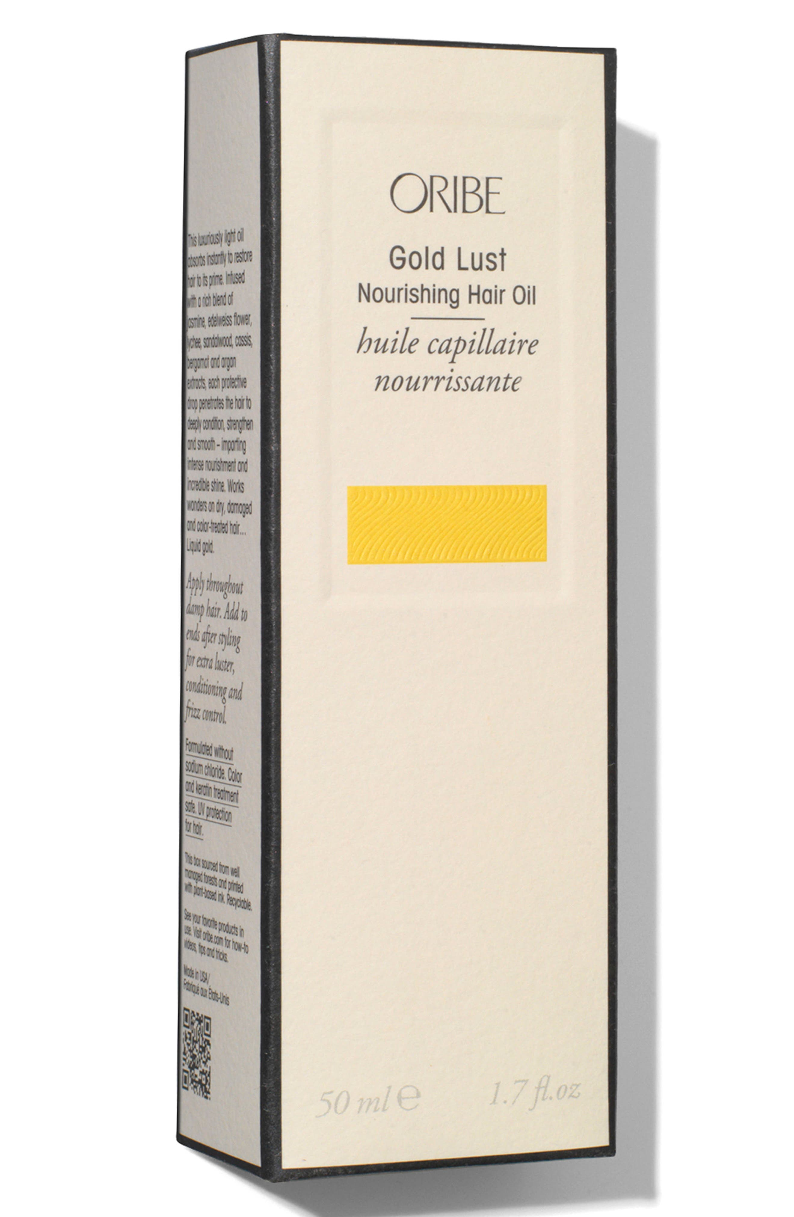 ORIBE, SPACE.NK.apothecary Oribe Gold Lust Nourishing Hair Oil, Alternate thumbnail 4, color, NO COLOR