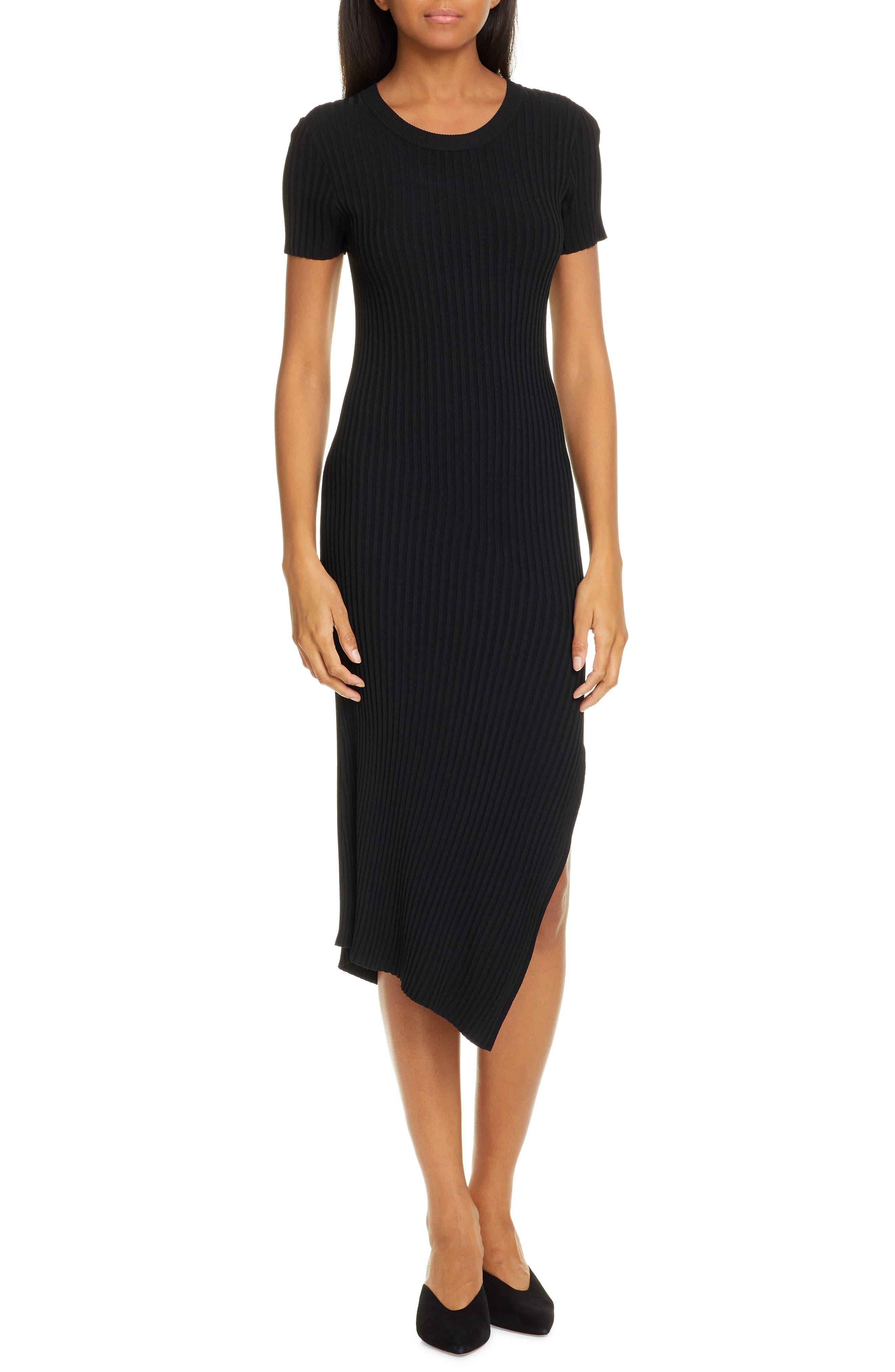 A.l.c. Minetta Rib Sweater Dress, Black