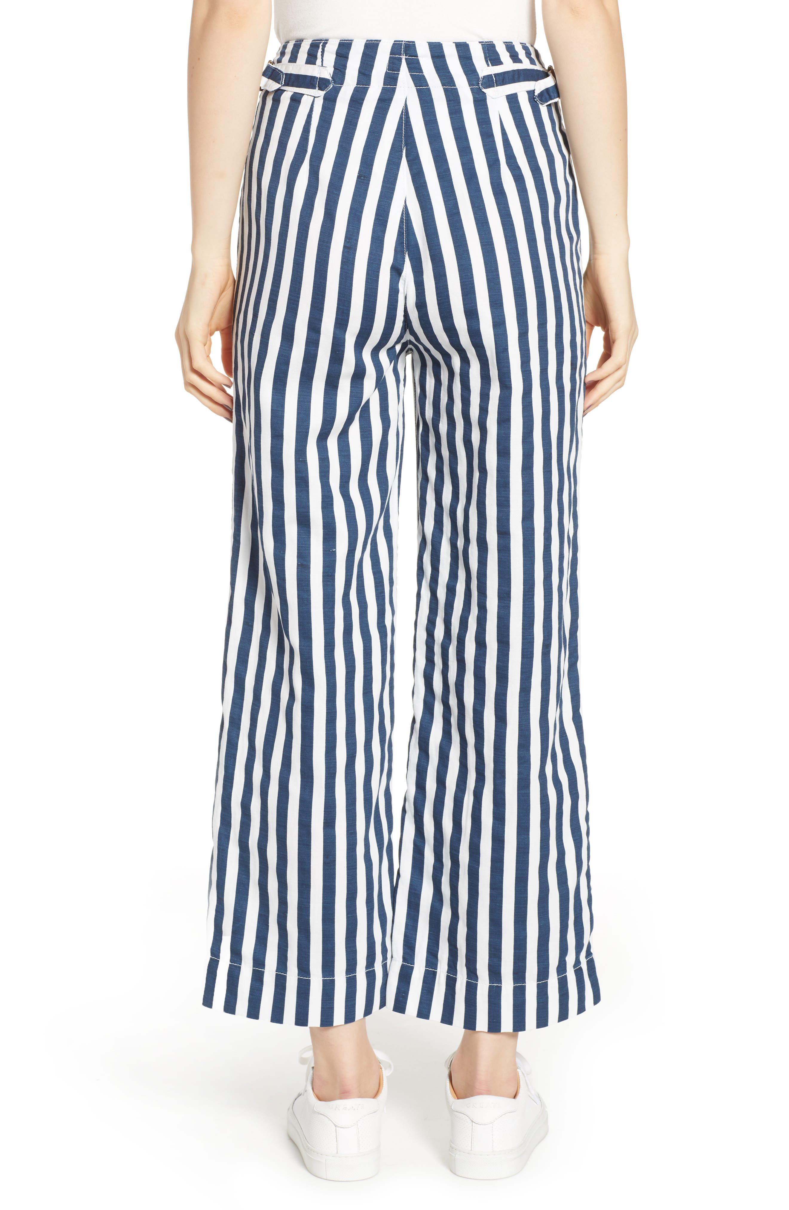 MOTHER, The Cinch Greaser Stripe Pants, Alternate thumbnail 2, color, 110