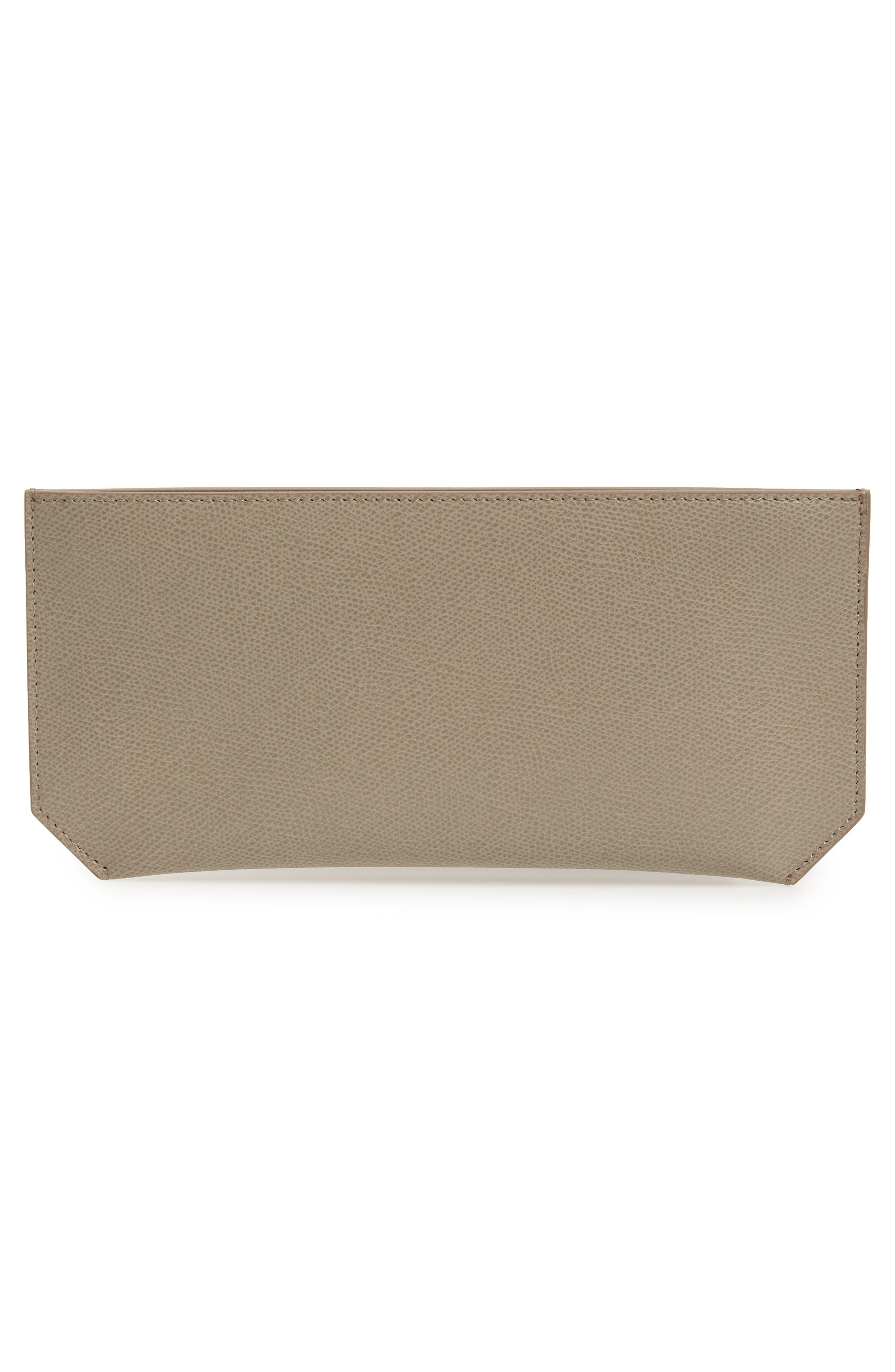SENREVE, Pebbled Leather Bracelet Pouch, Alternate thumbnail 3, color, SAND