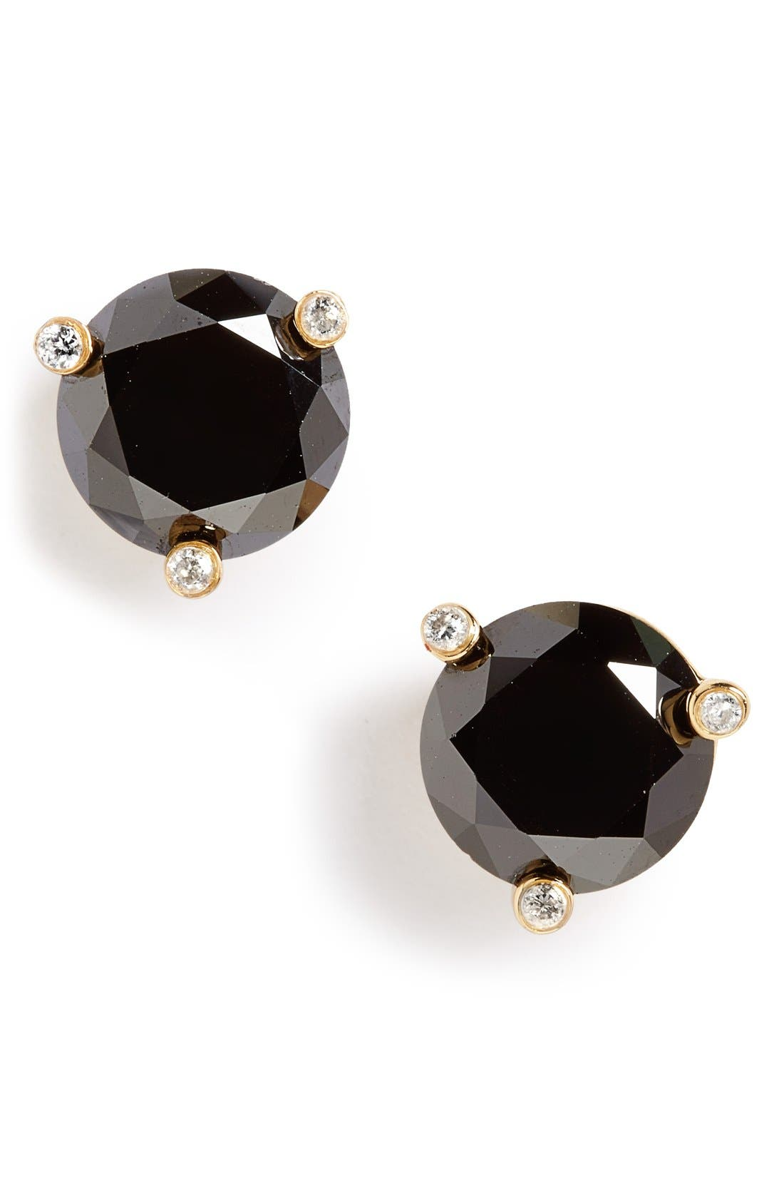 KATE SPADE NEW YORK 'rise and shine' stud earrings, Main, color, JET