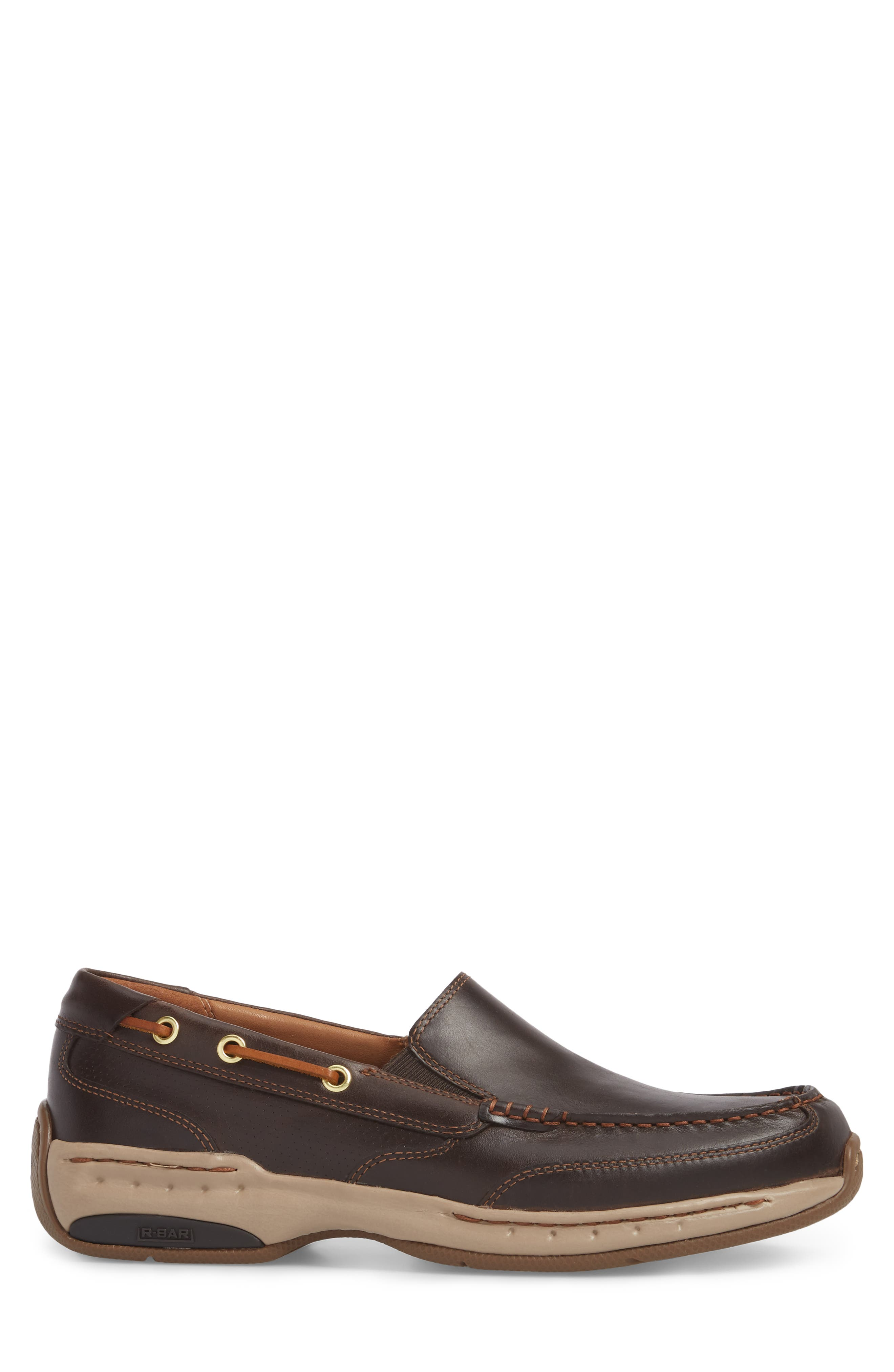 DUNHAM, Waterford Water Resistant Slip-On, Alternate thumbnail 3, color, TAN LEATHER