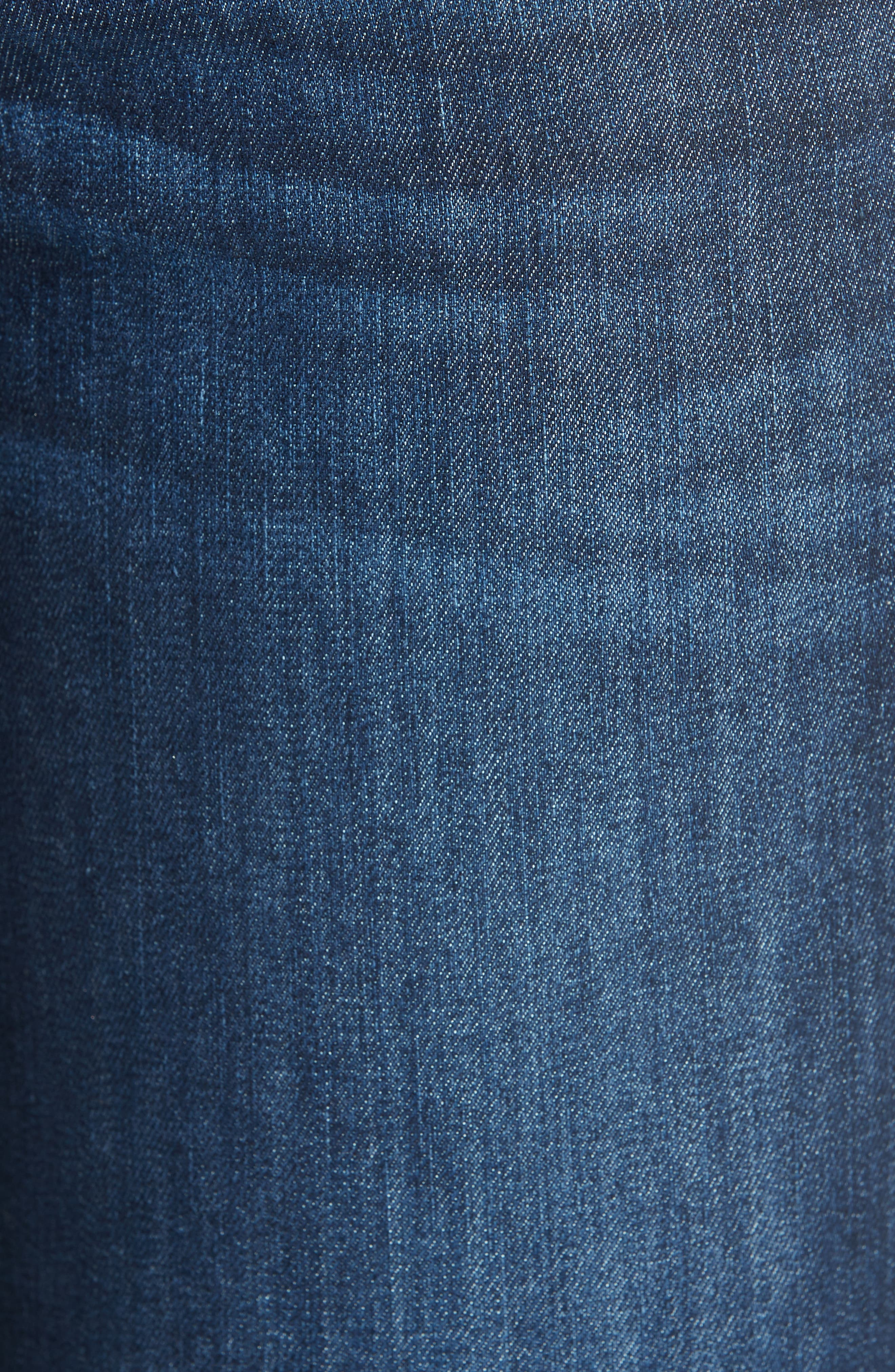 RAG & BONE, Raw Hem Ankle Skinny Jeans, Alternate thumbnail 6, color, TONAL RIVER