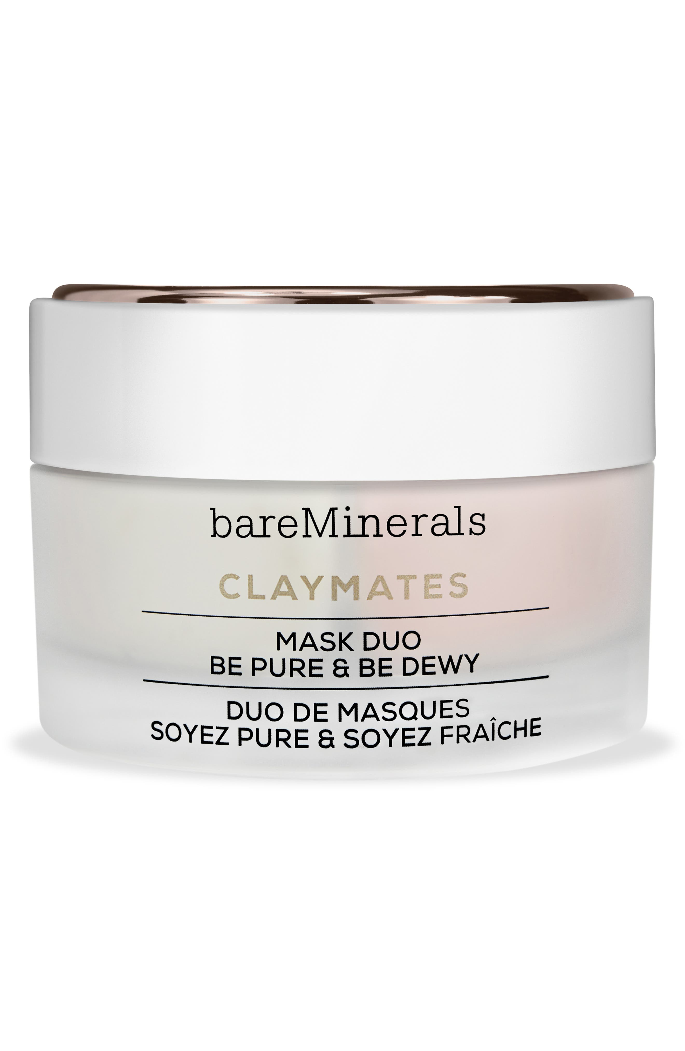 BAREMINERALS<SUP>®</SUP>, Be Pure & Be Dewy Claymates Mask Duo, Main thumbnail 1, color, NO COLOR