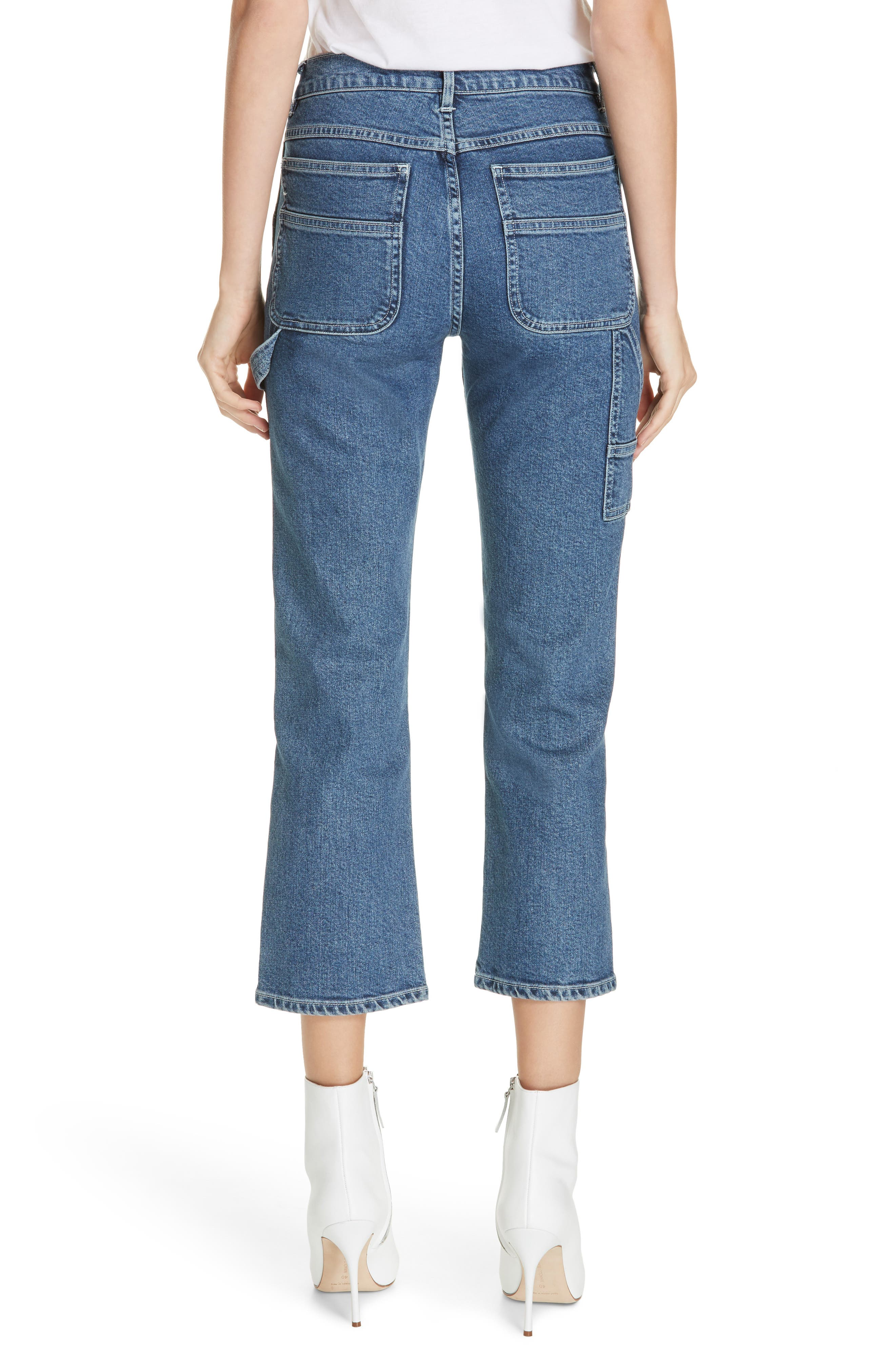 3X1 NYC, Rose Ankle Carpenter Jeans, Alternate thumbnail 2, color, HESTER
