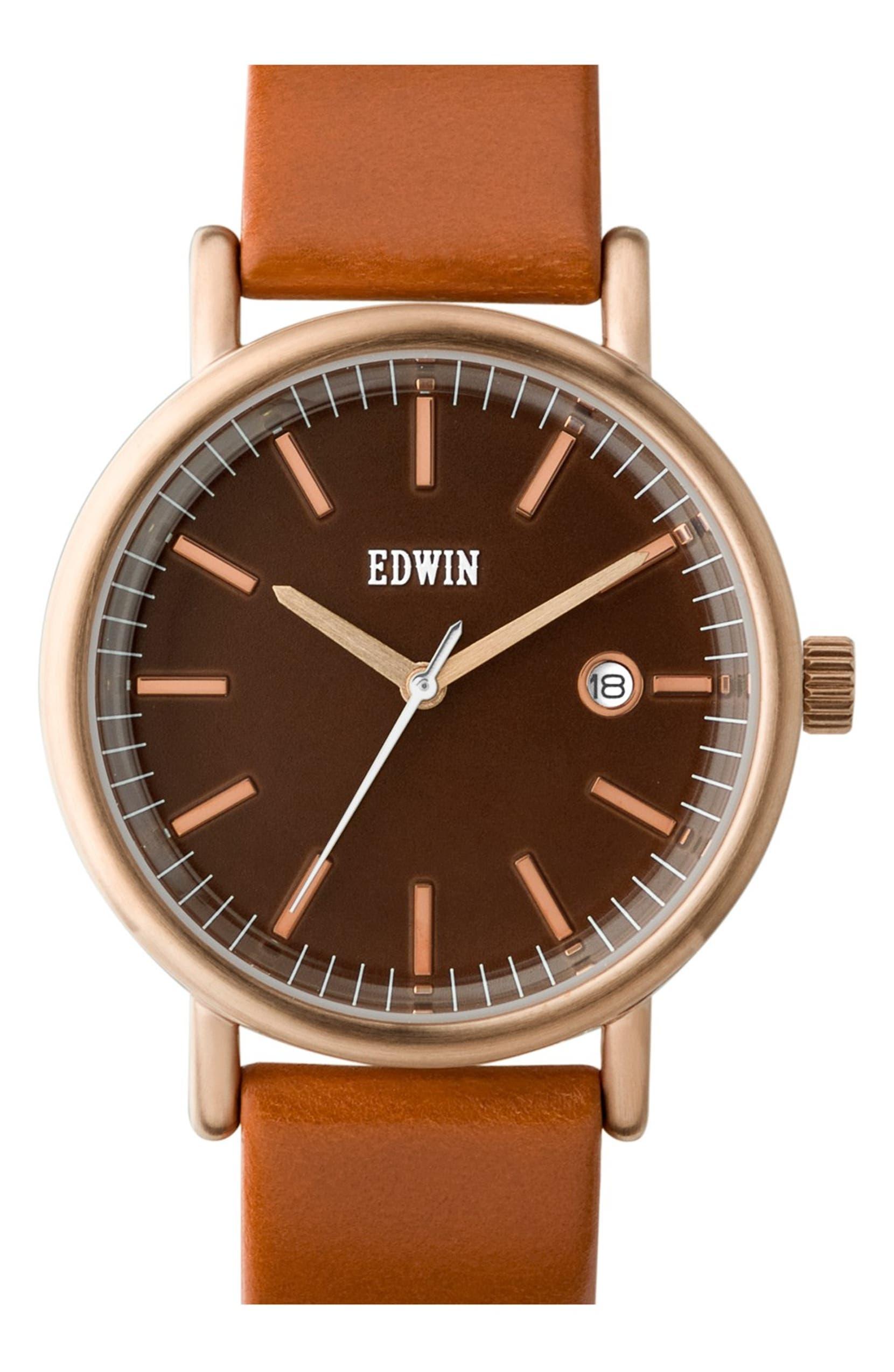 Leather 'epic' Watch38mmNordstrom Strap Edwin Edwin 'epic' dxtshQrC