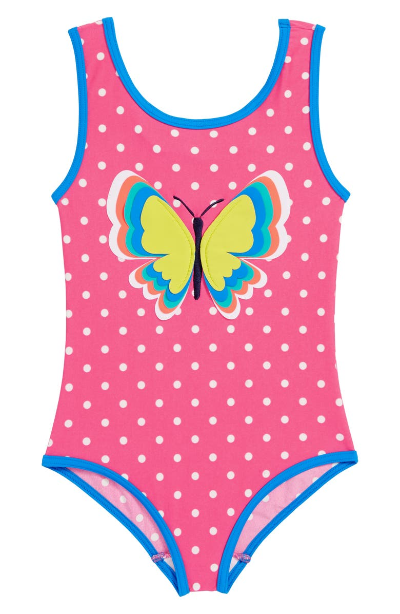 64404966c5721 Mini Boden Fun Detail One-Piece Swimsuit (Toddler Girls, Little ...