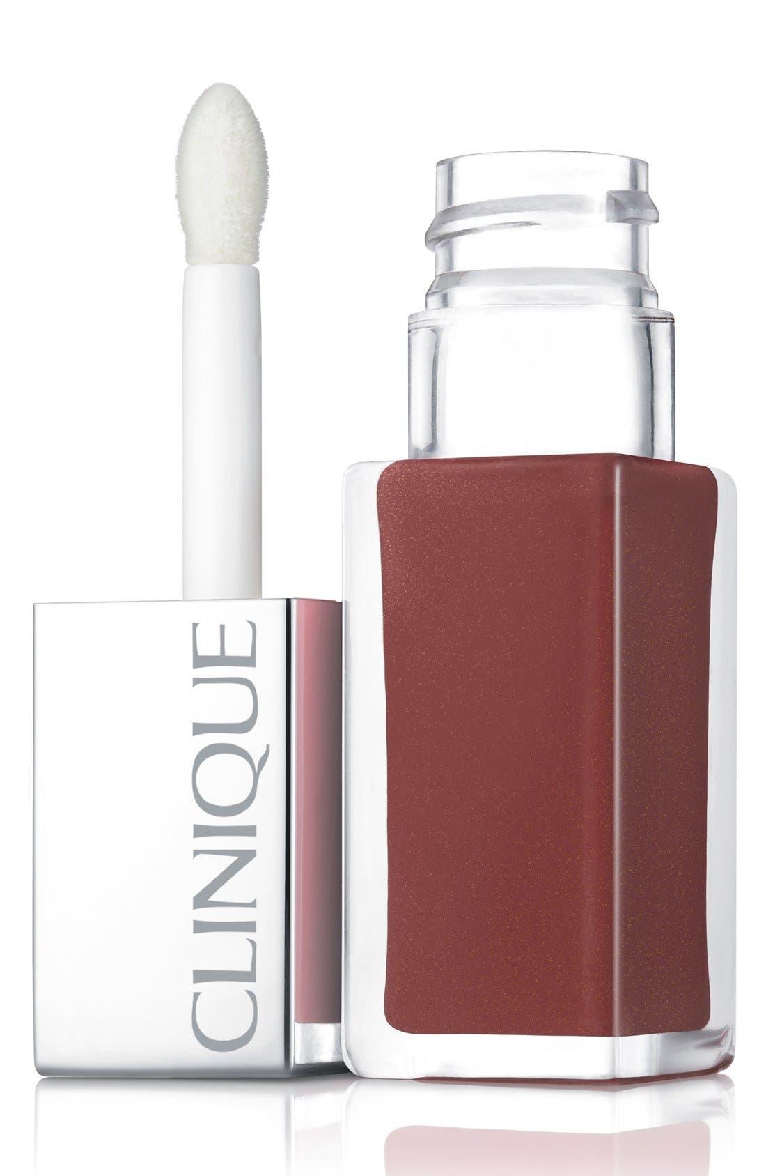 CLINIQUE, Pop Lacquer Lip Color & Primer, Main thumbnail 1, color, COCOA POP