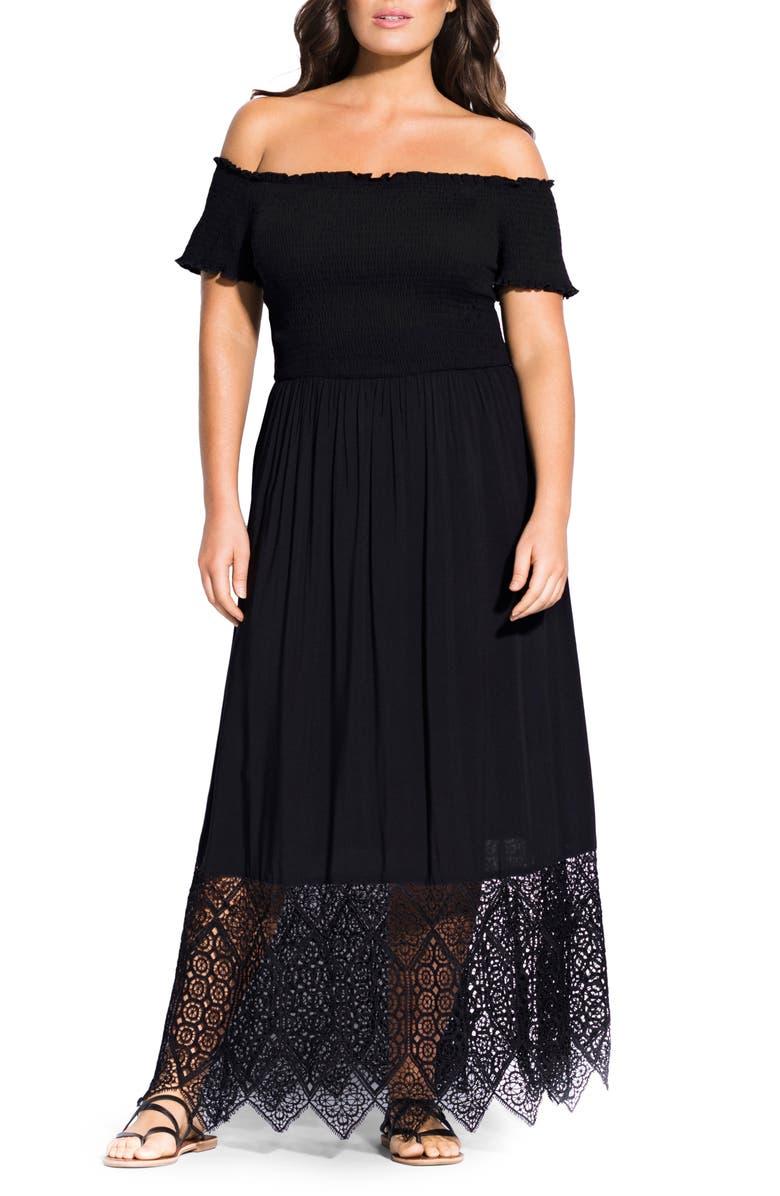 City Chic Dresses OFF THE SHOULDER MAXI DRESS
