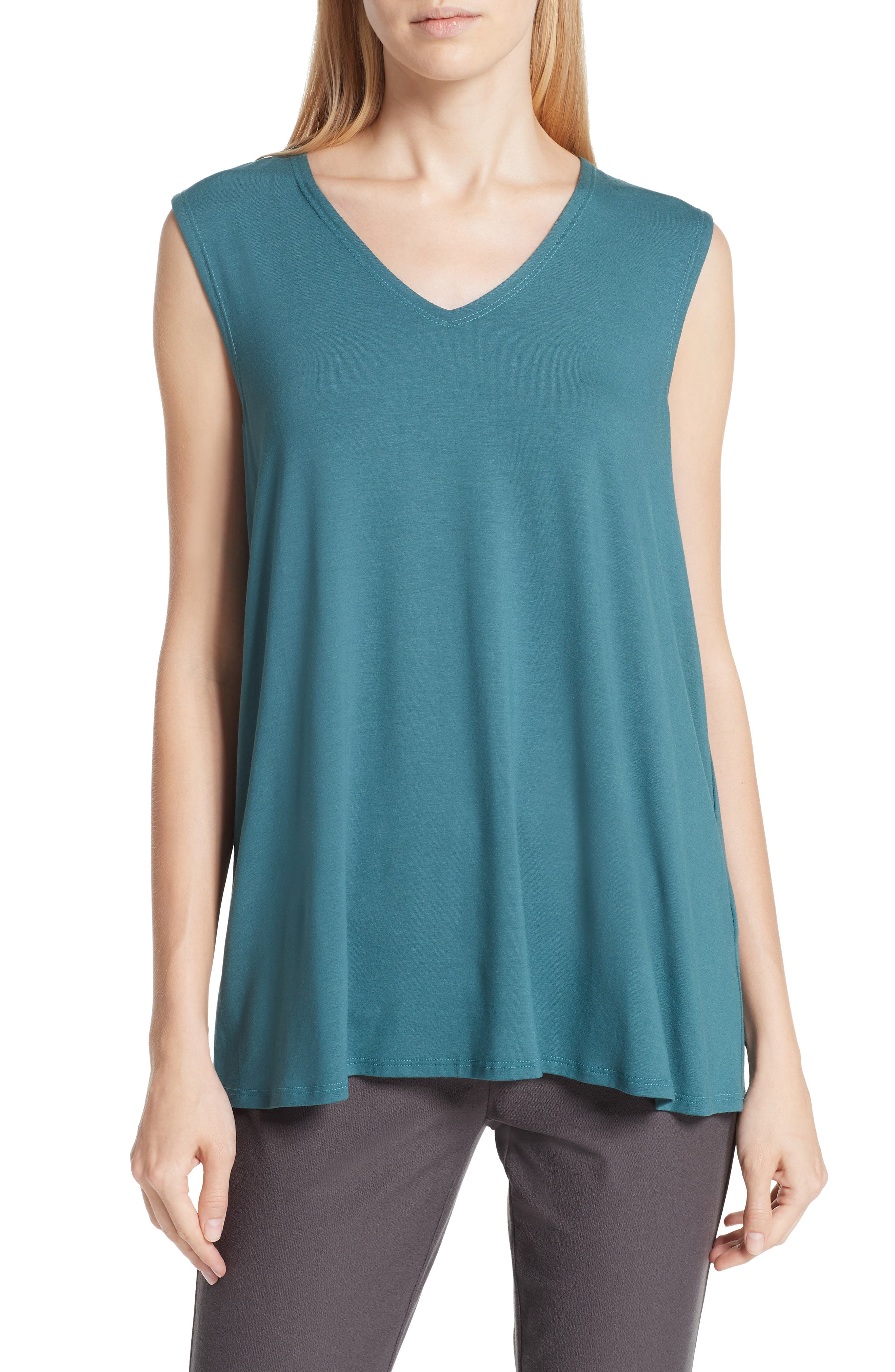 EILEEN FISHER Jersey Tank, Main, color, 441