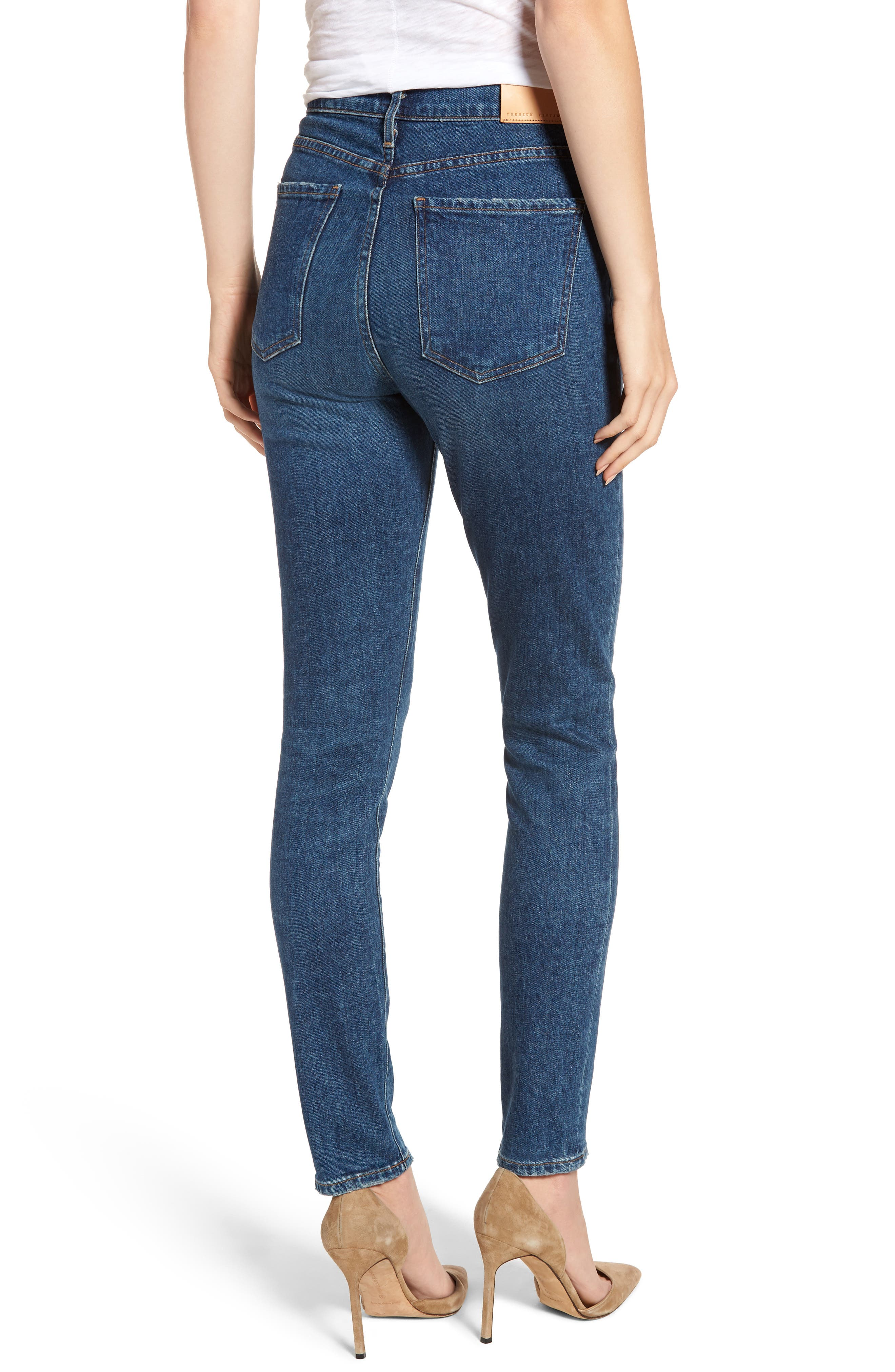 CITIZENS OF HUMANITY, Olivia High Waist Slim Jeans, Alternate thumbnail 2, color, CIRCA