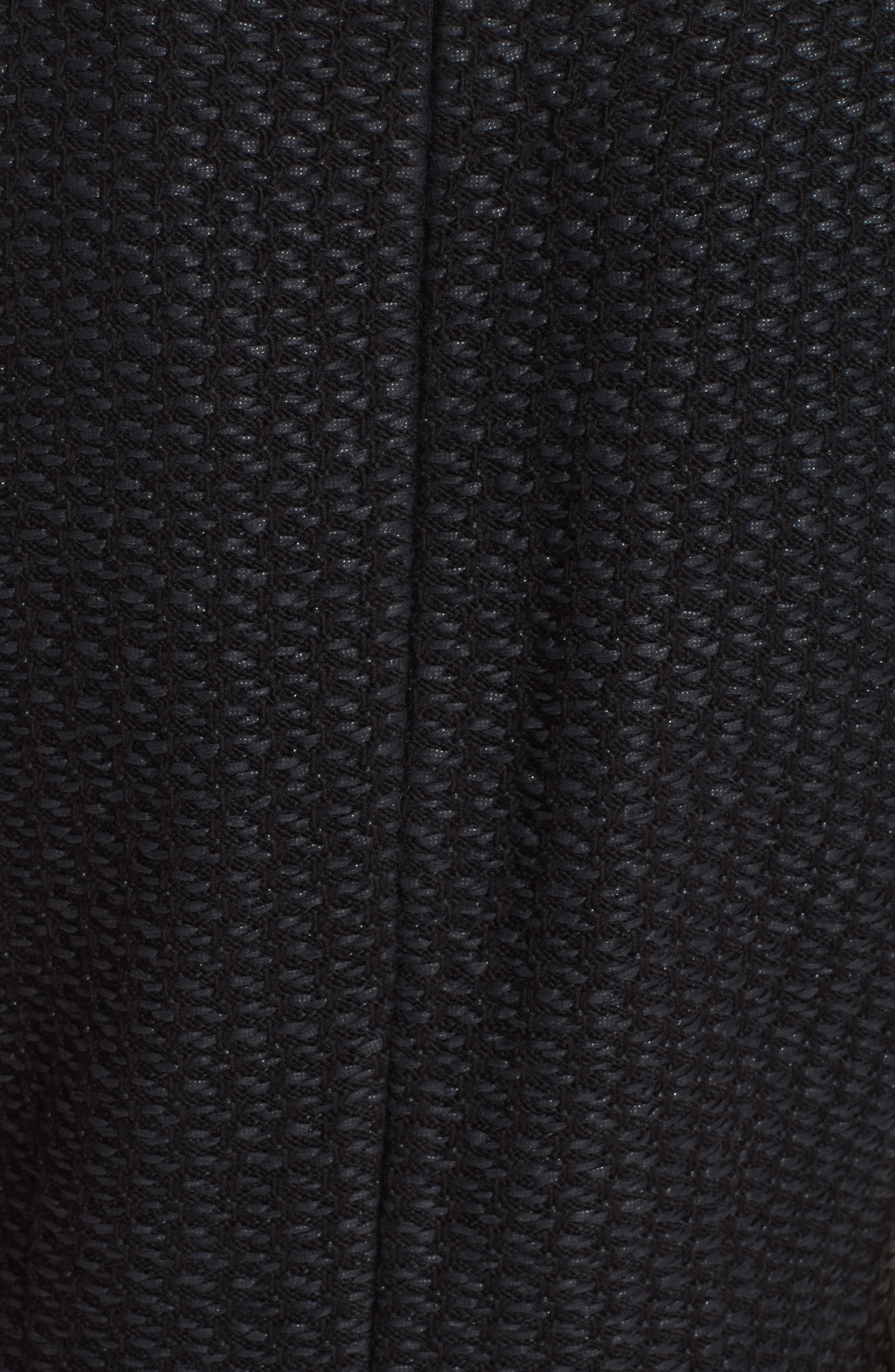 ST. JOHN COLLECTION, Adina Chain Trim Knit Dress, Alternate thumbnail 6, color, CAVIAR