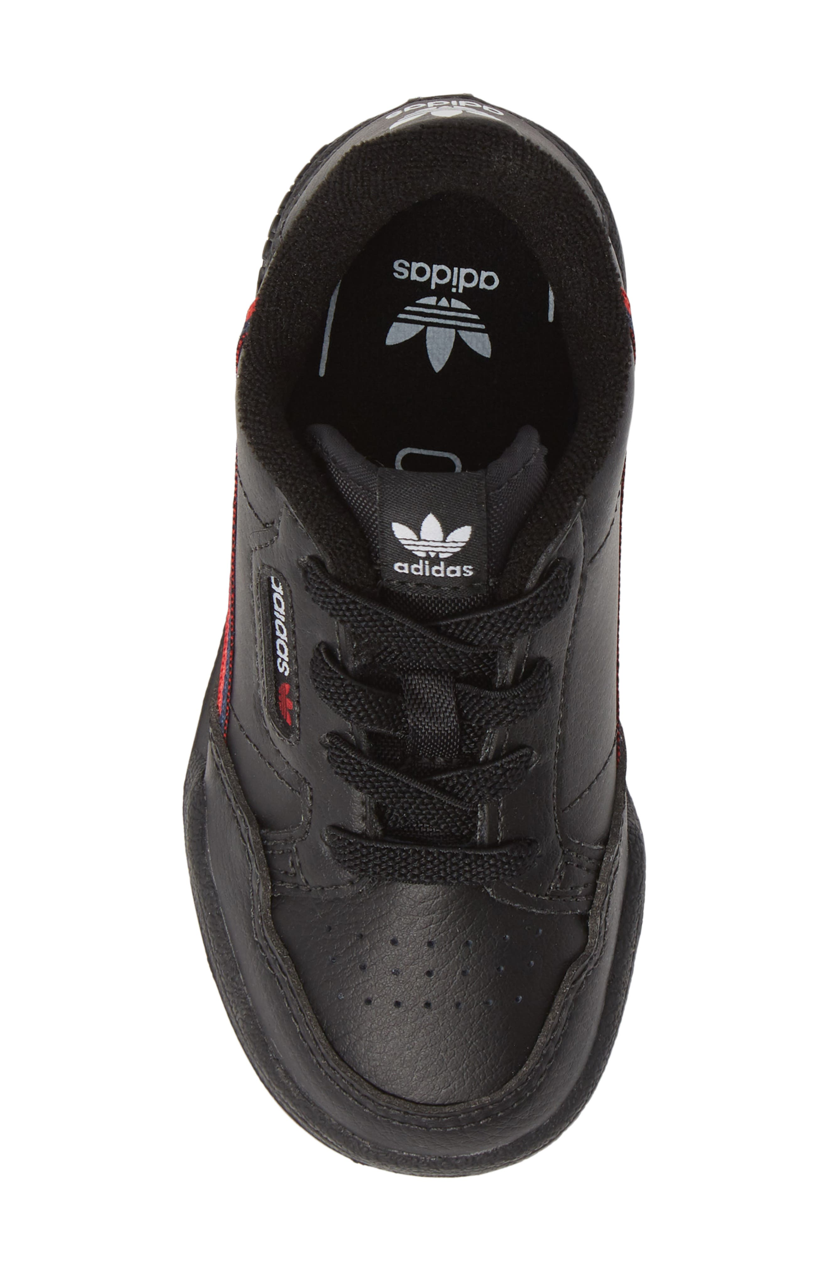 ADIDAS, Continental 80 Sneaker, Alternate thumbnail 5, color, CORE BLACK/ SCARLET/ NAVY