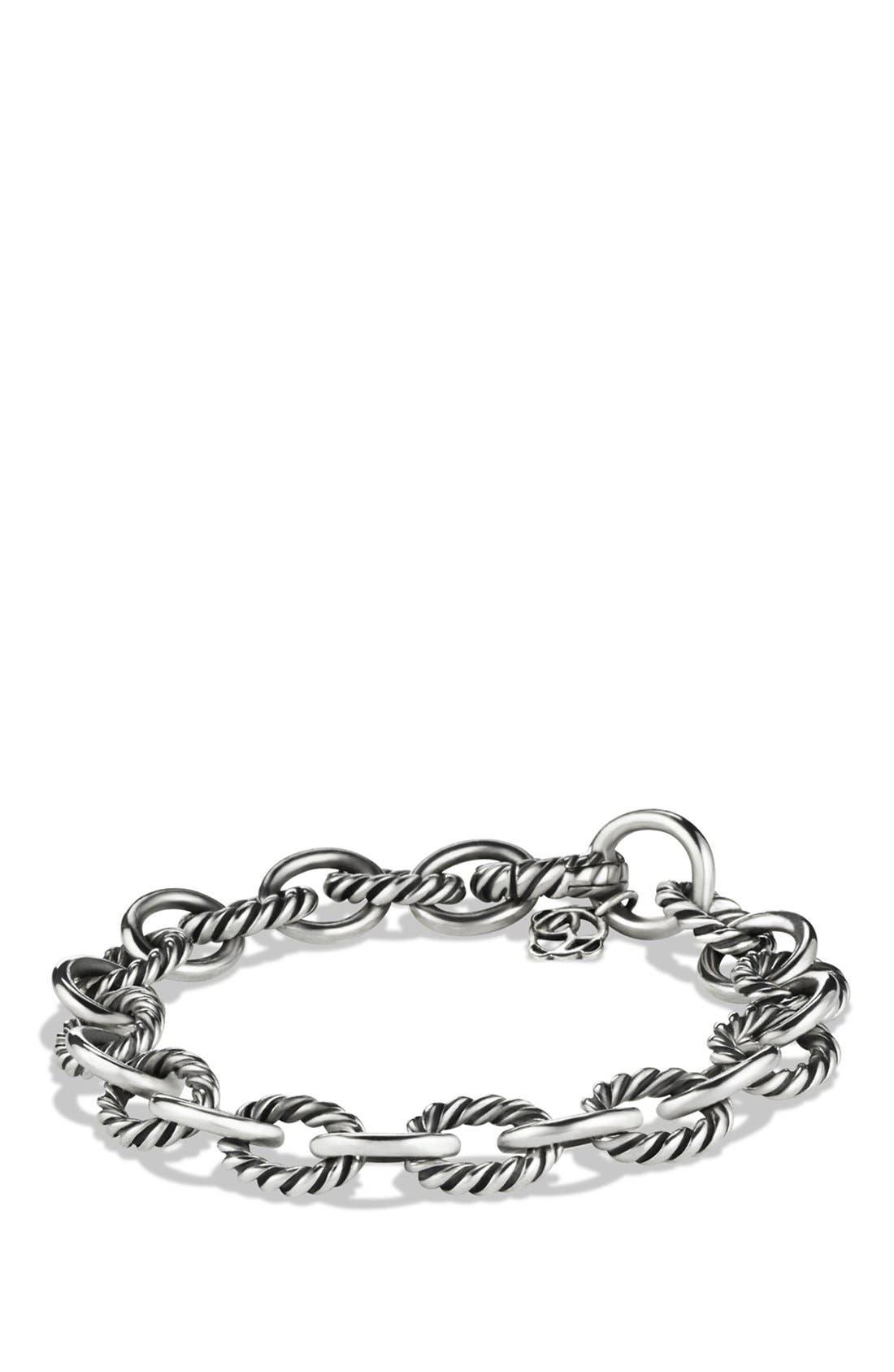 DAVID YURMAN 'Oval' Link Bracelet, Main, color, SILVER