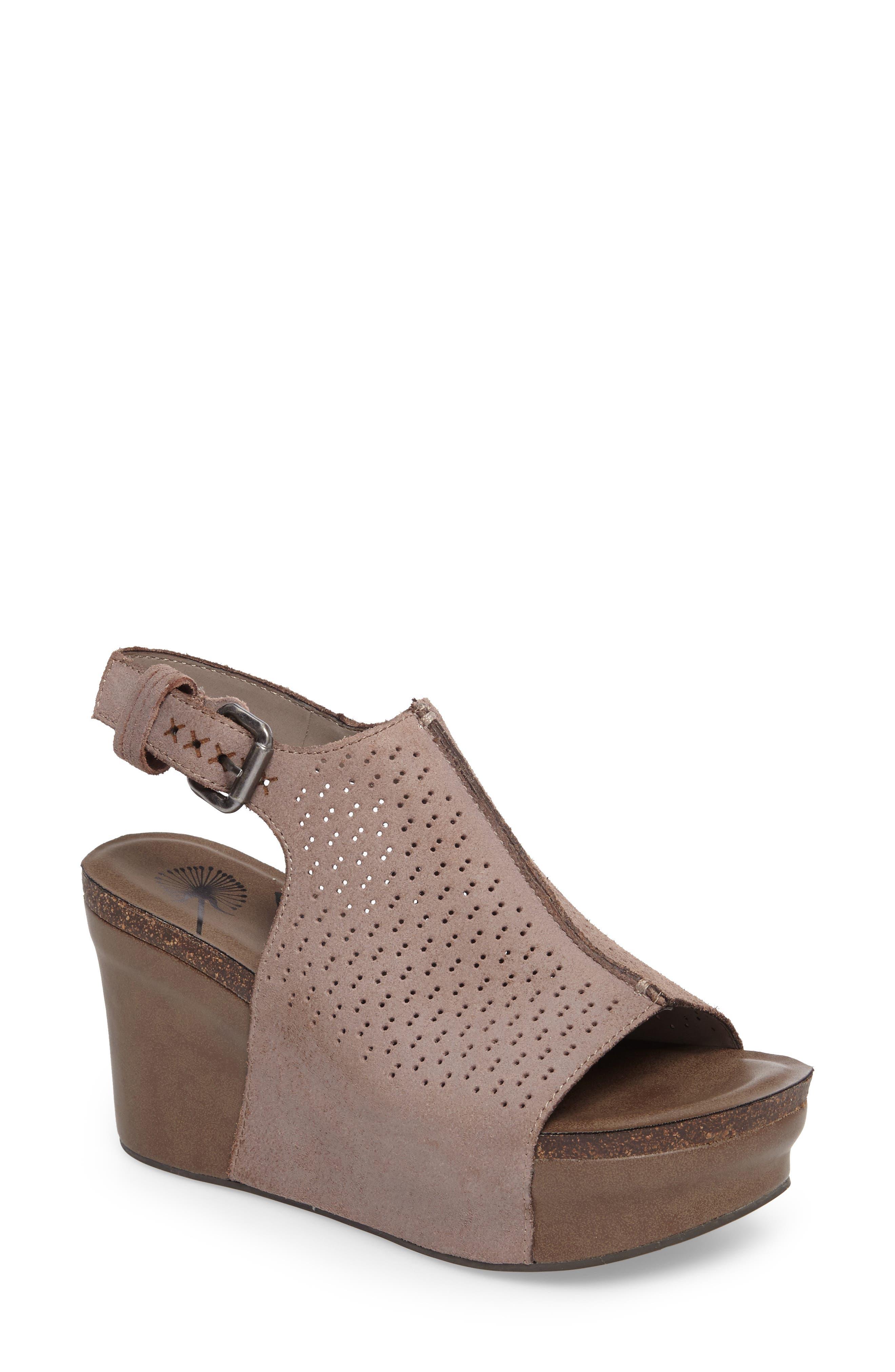 OTBT, Jaunt Platform Wedge Sandal, Main thumbnail 1, color, GREY POWDER SUEDE