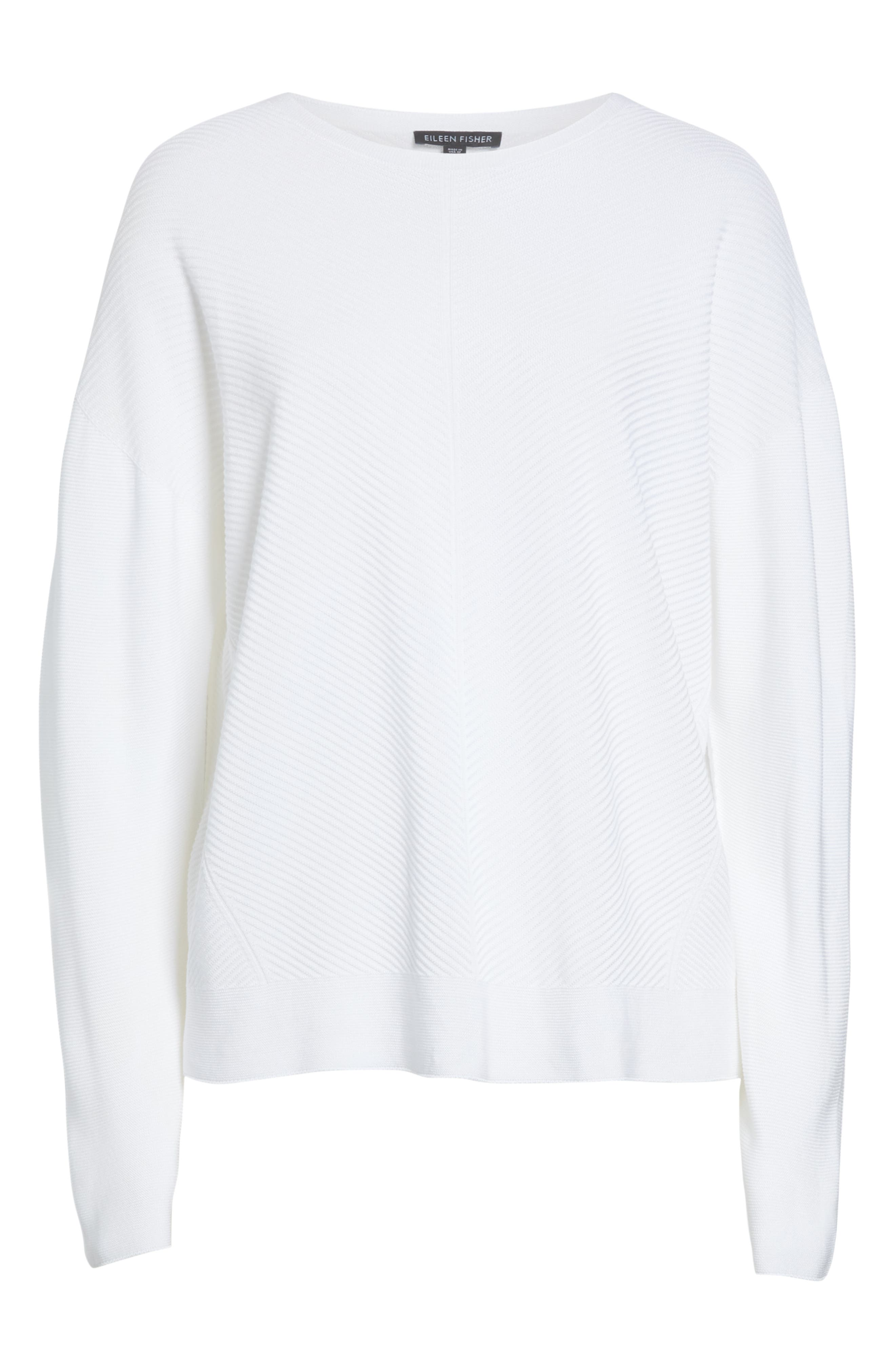 EILEEN FISHER, Round Neck Top, Alternate thumbnail 6, color, 103