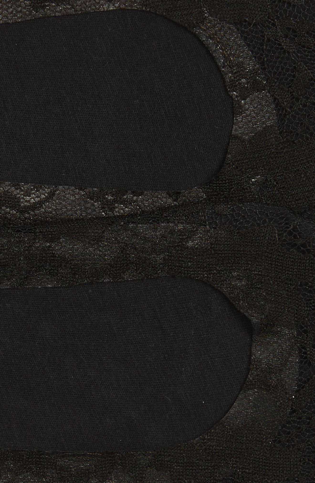 NORDSTROM, 2-Pack Lace Liner Socks, Alternate thumbnail 2, color, BLACK