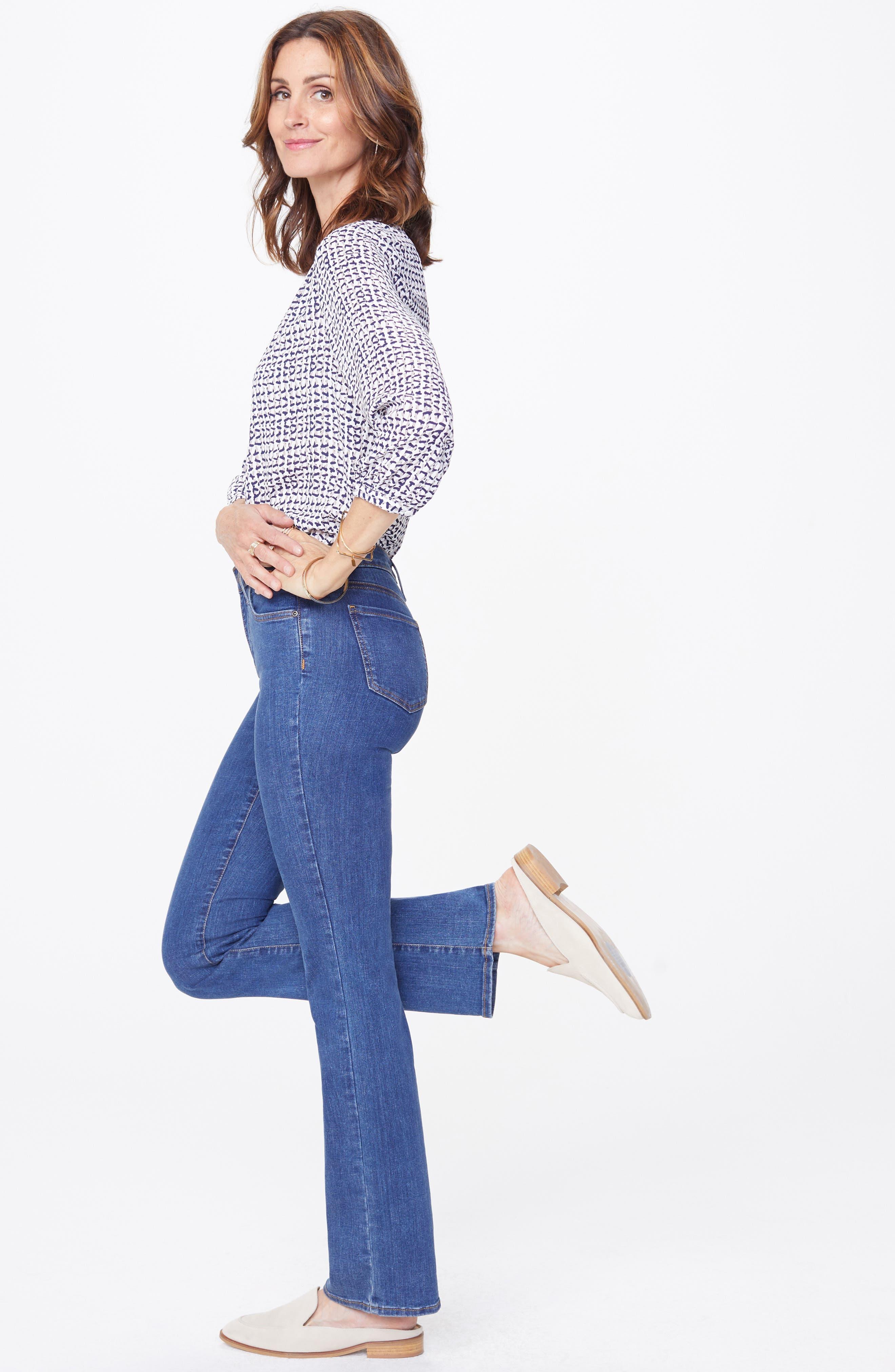 NYDJ, Barbara Stretch Bootcut Jeans, Alternate thumbnail 6, color, BATIK BLUE