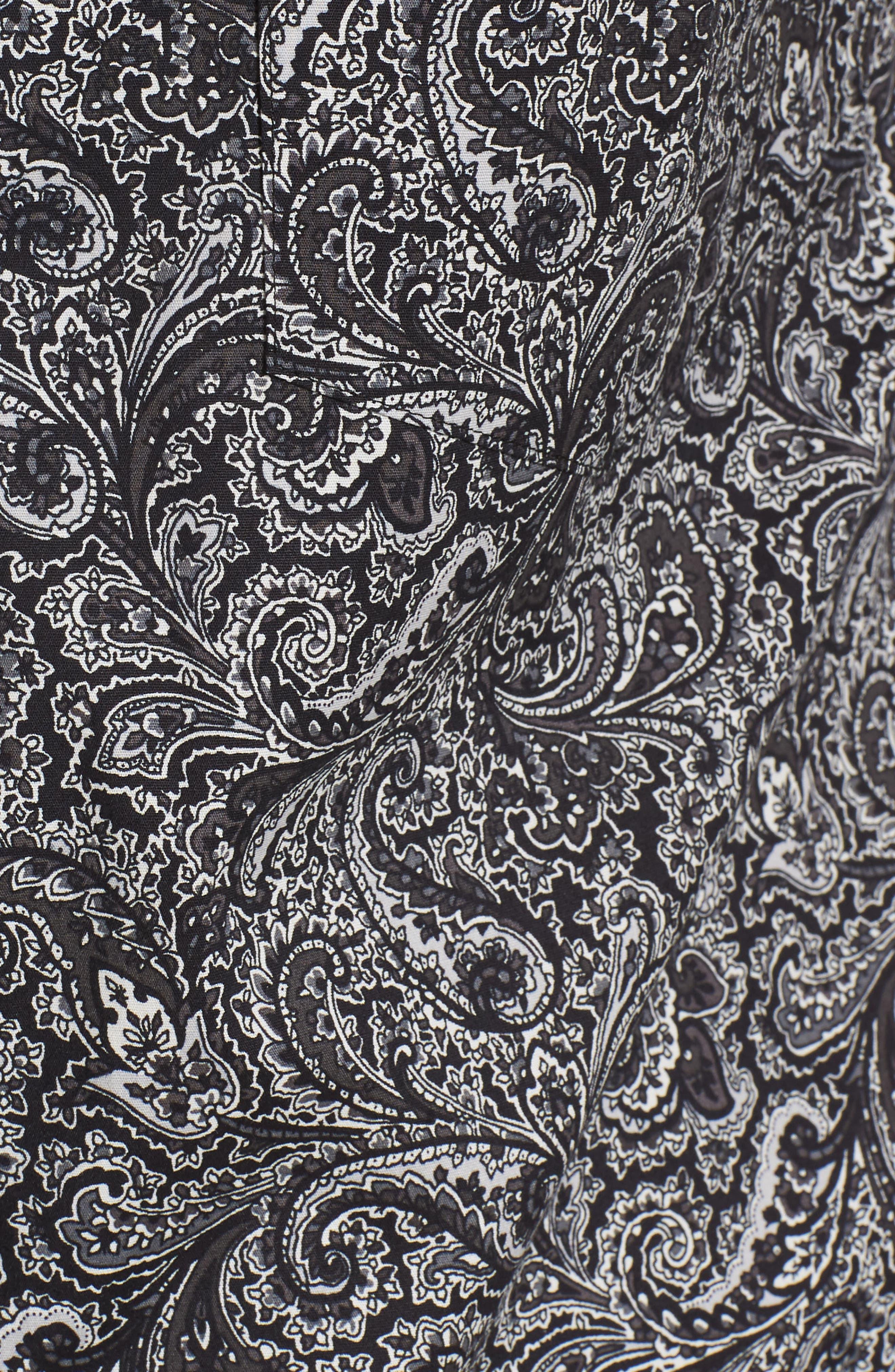 MAJESTIC INTERNATIONAL, Starling Pajama Set, Alternate thumbnail 5, color, BLACK PAISLEY
