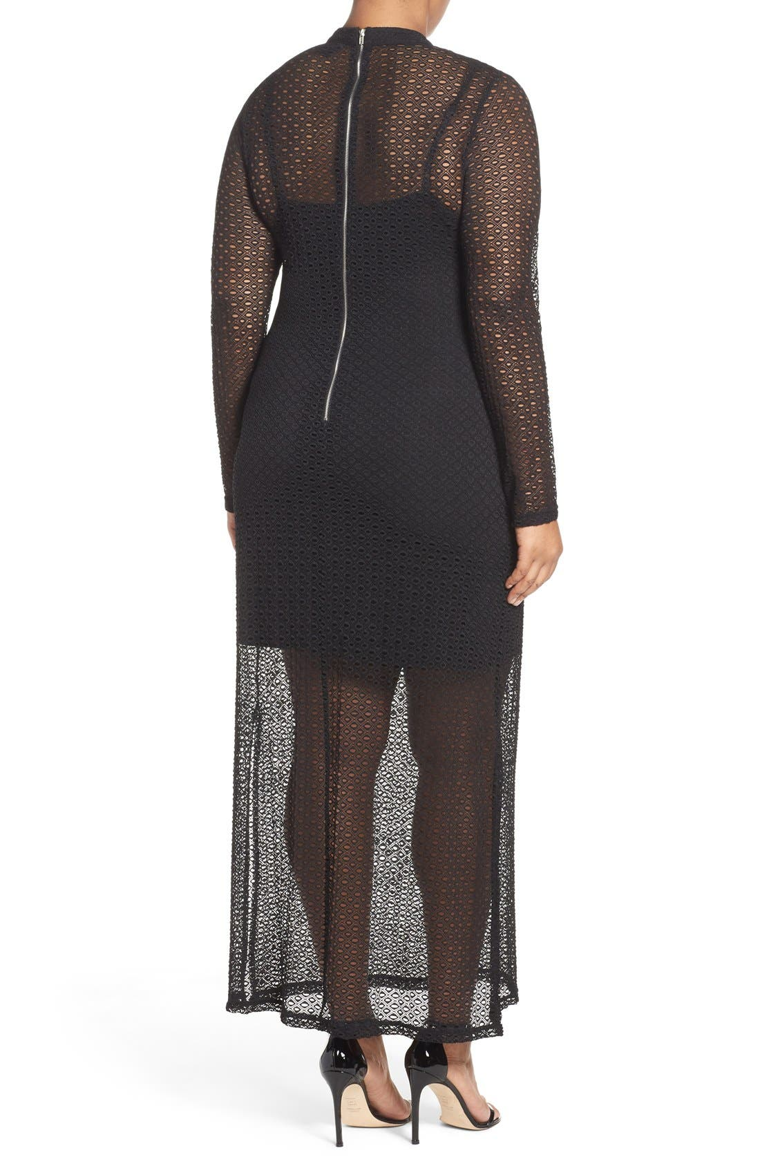 CITY CHIC, Lady Luxe Maxi Dress, Alternate thumbnail 6, color, 001