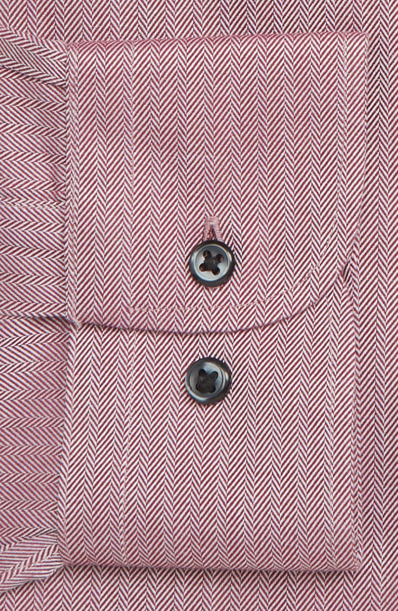 NORDSTROM MEN'S SHOP, Smartcare<sup>™</sup> Traditional Fit Herringbone Dress Shirt, Alternate thumbnail 6, color, BURGUNDY ROYALE