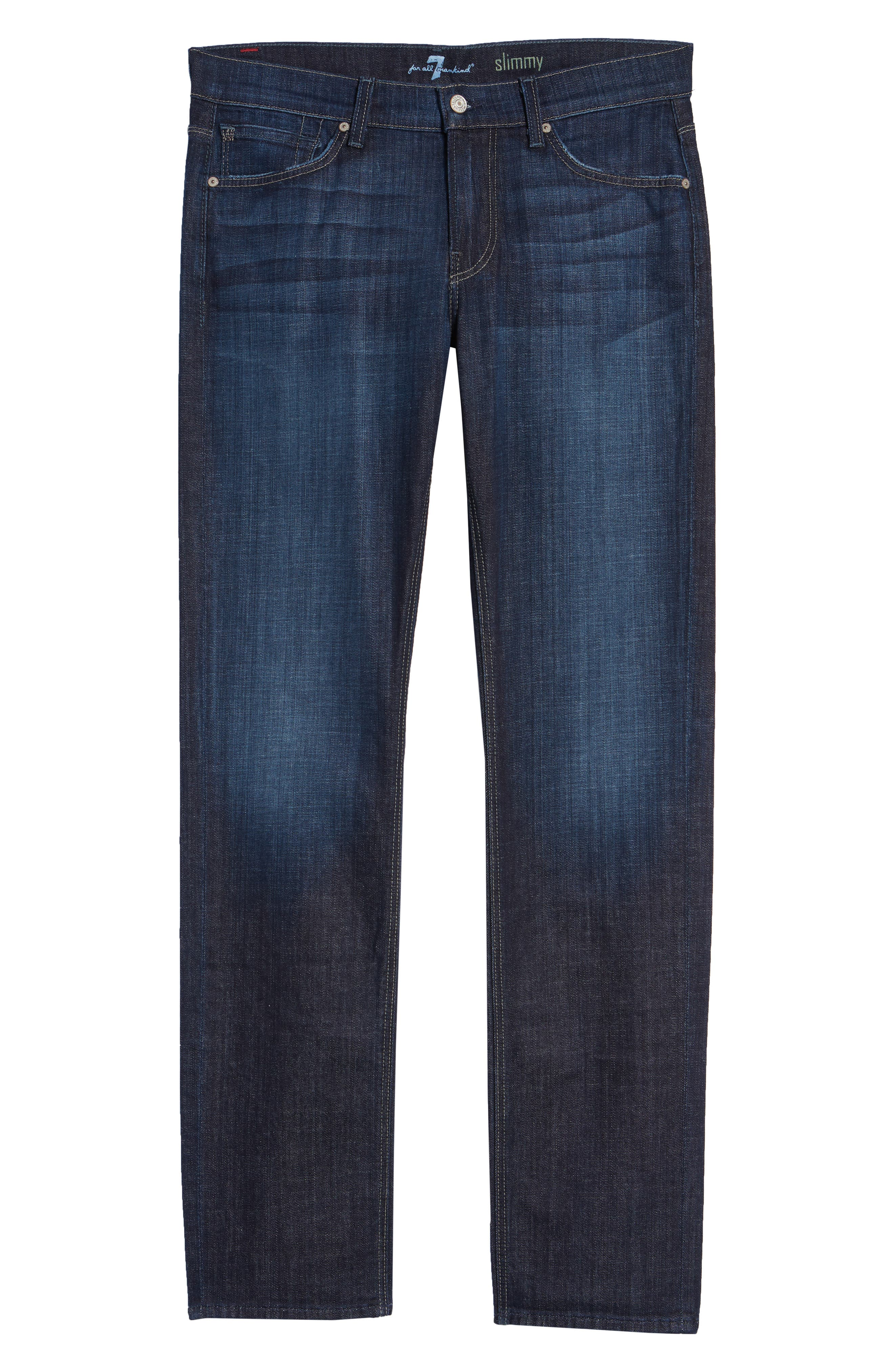 7 FOR ALL MANKIND<SUP>®</SUP>, Slimmy Slim Fit Jeans, Alternate thumbnail 2, color, LOS ANGELES DARK