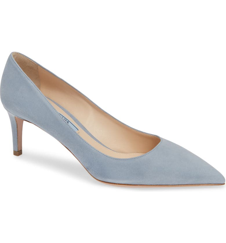 PRADA Pointy Toe Pump, Main, color, ASTRO GREY