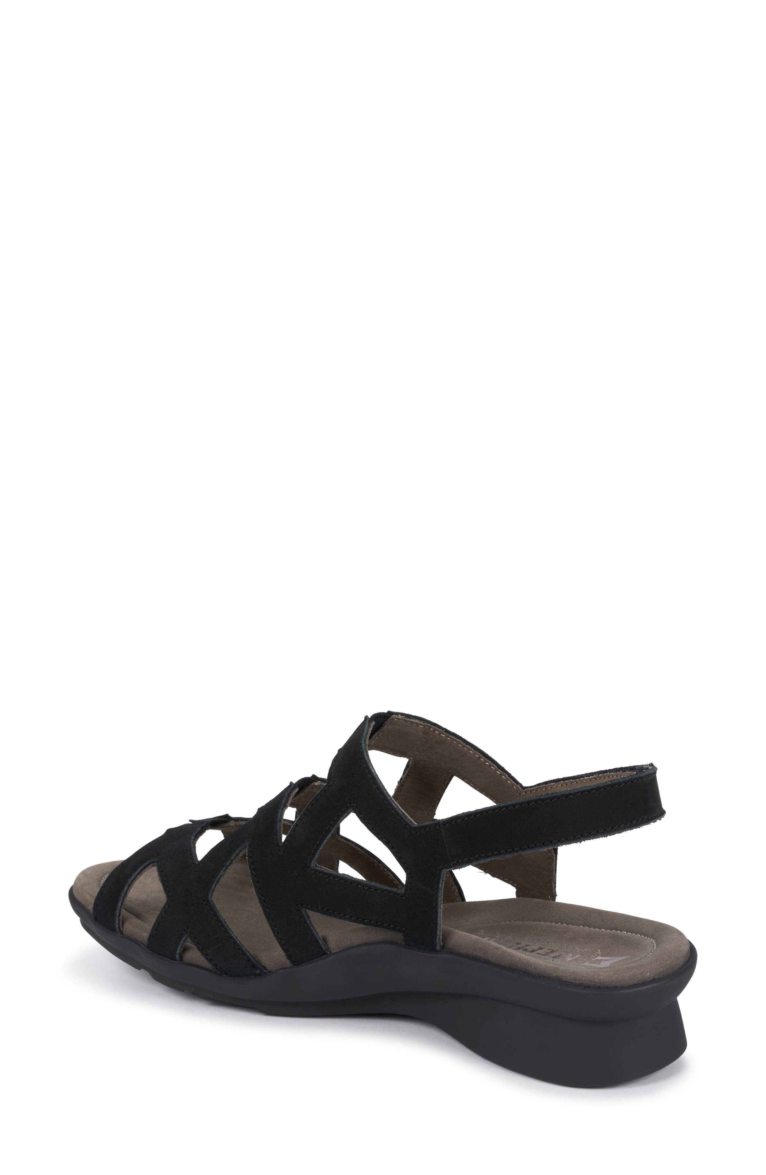MEPHISTO, Pamela Sandal, Alternate thumbnail 2, color, BLACK NUBUCK