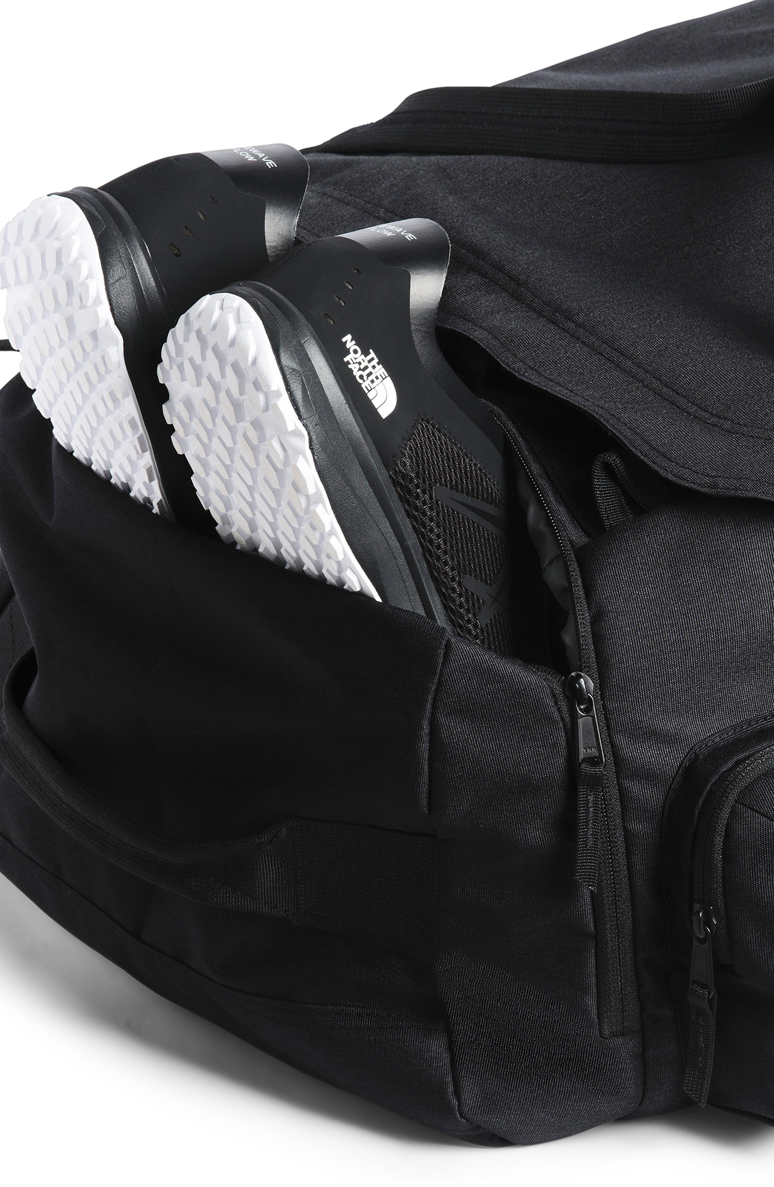 THE NORTH FACE, Berkeley Duffle Bag, Alternate thumbnail 5, color, BLACK HEATHER