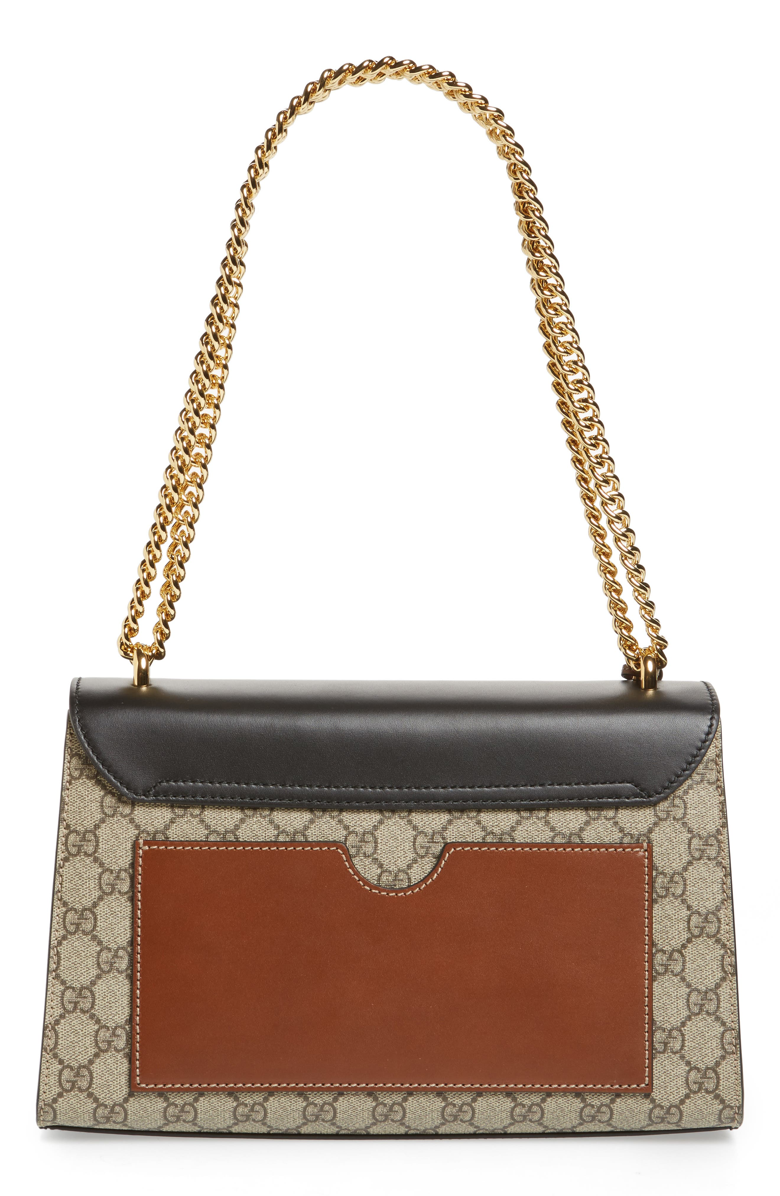 GUCCI, Medium Padlock Leather Shoulder Bag, Alternate thumbnail 3, color, MOON/ TOSCANO
