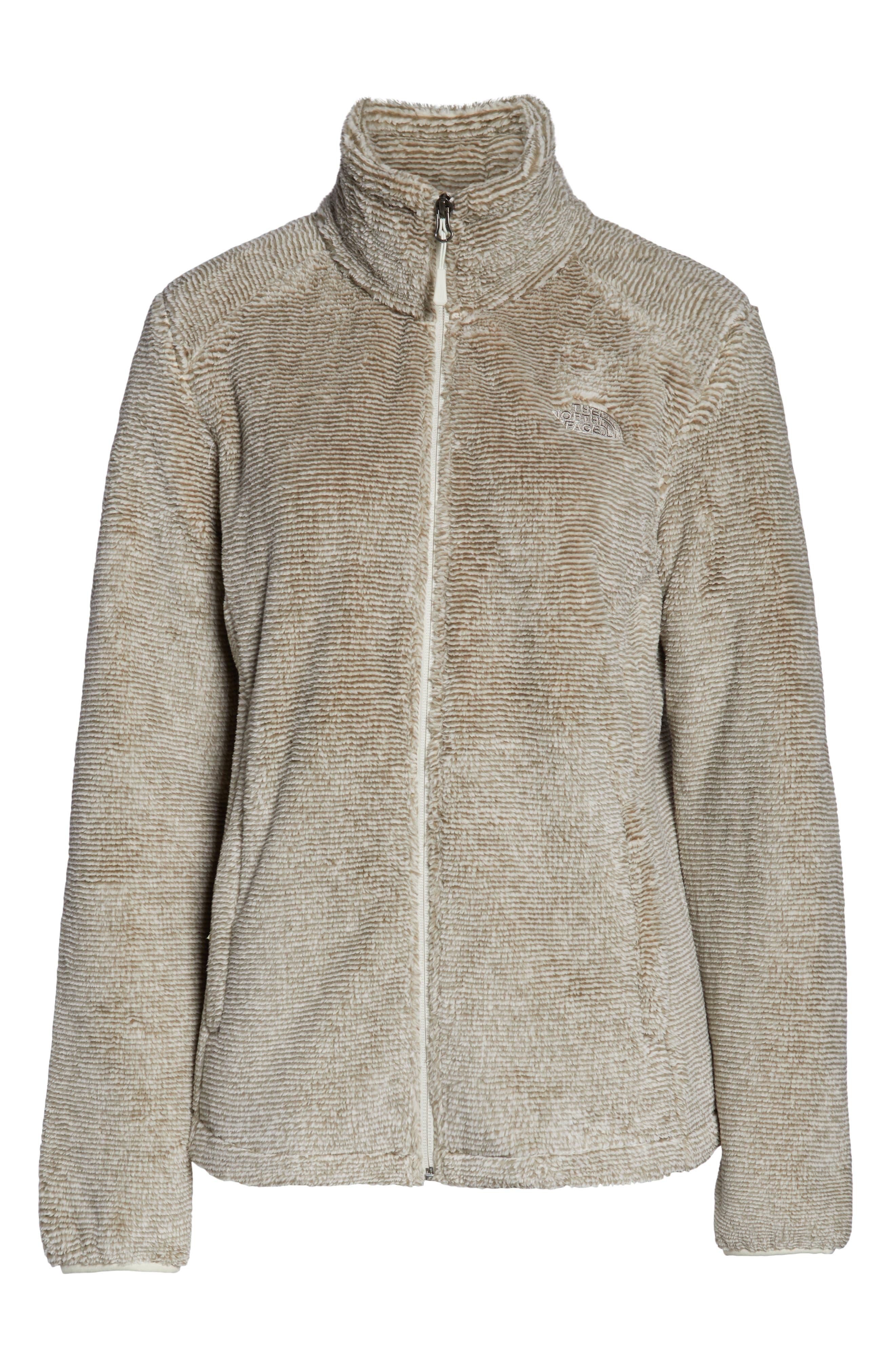 THE NORTH FACE, Osito 2 Stripe Fleece Jacket, Alternate thumbnail 6, color, GREY/ VINTAGE WHITE STRIPE