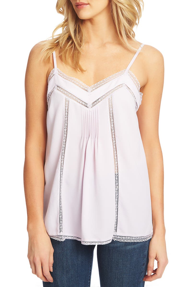 1.state Tops LACE TRIM PINTUCK CAMISOLE