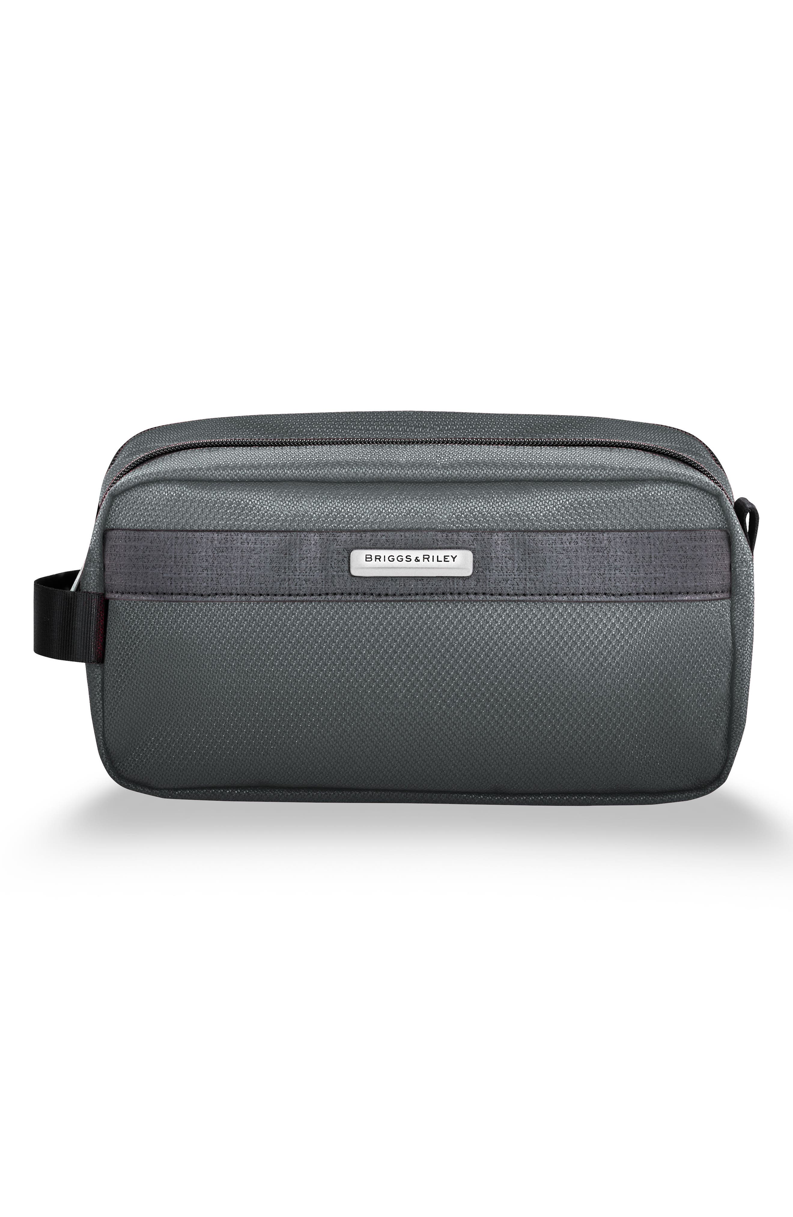 BRIGGS & RILEY, Transcend 400 Toiletry Kit, Main thumbnail 1, color, SLATE GREY