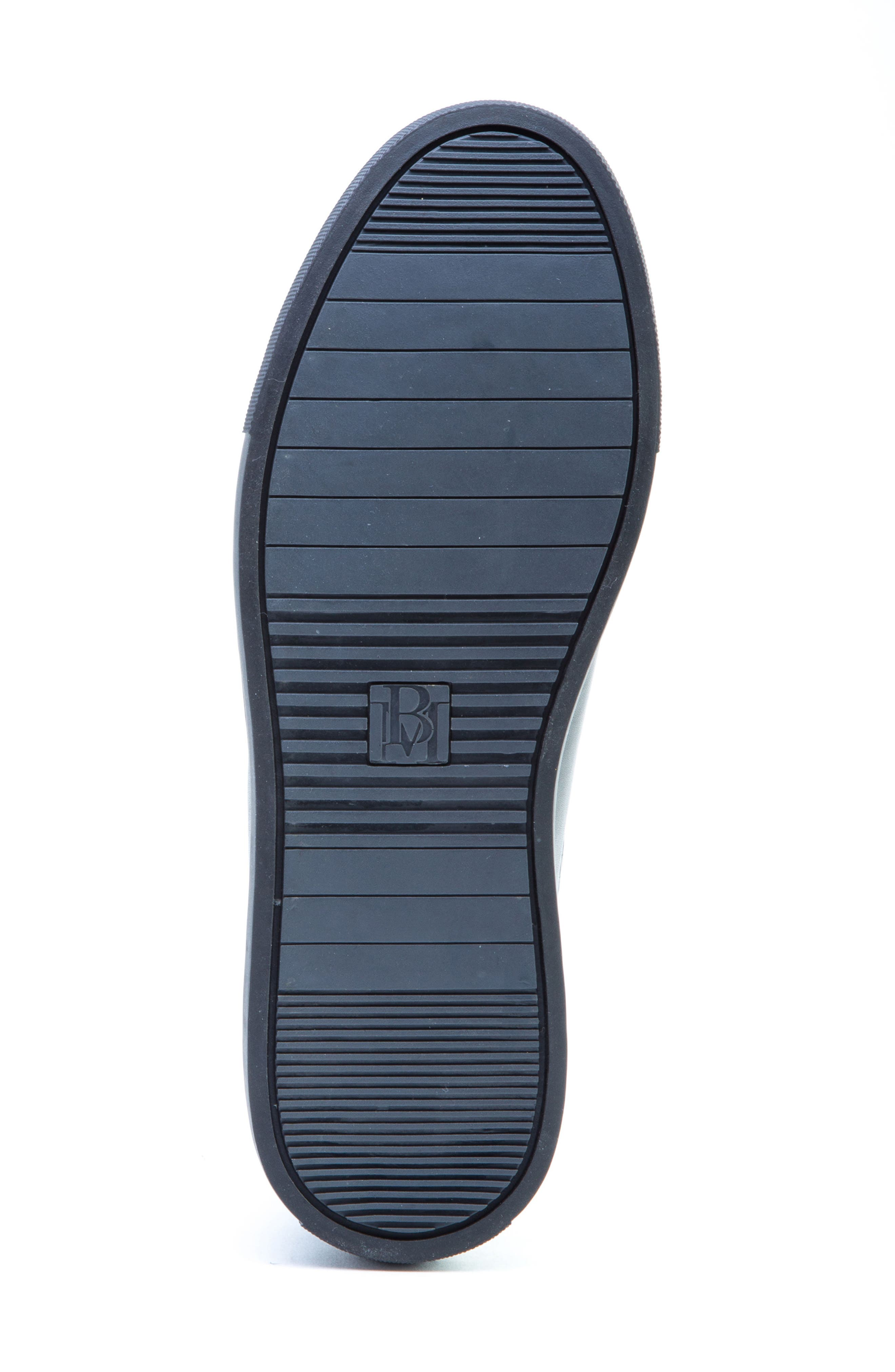 BADGLEY MISCHKA COLLECTION, Badgley Mischka Bogart Sneaker, Alternate thumbnail 6, color, BLACK LEATHER
