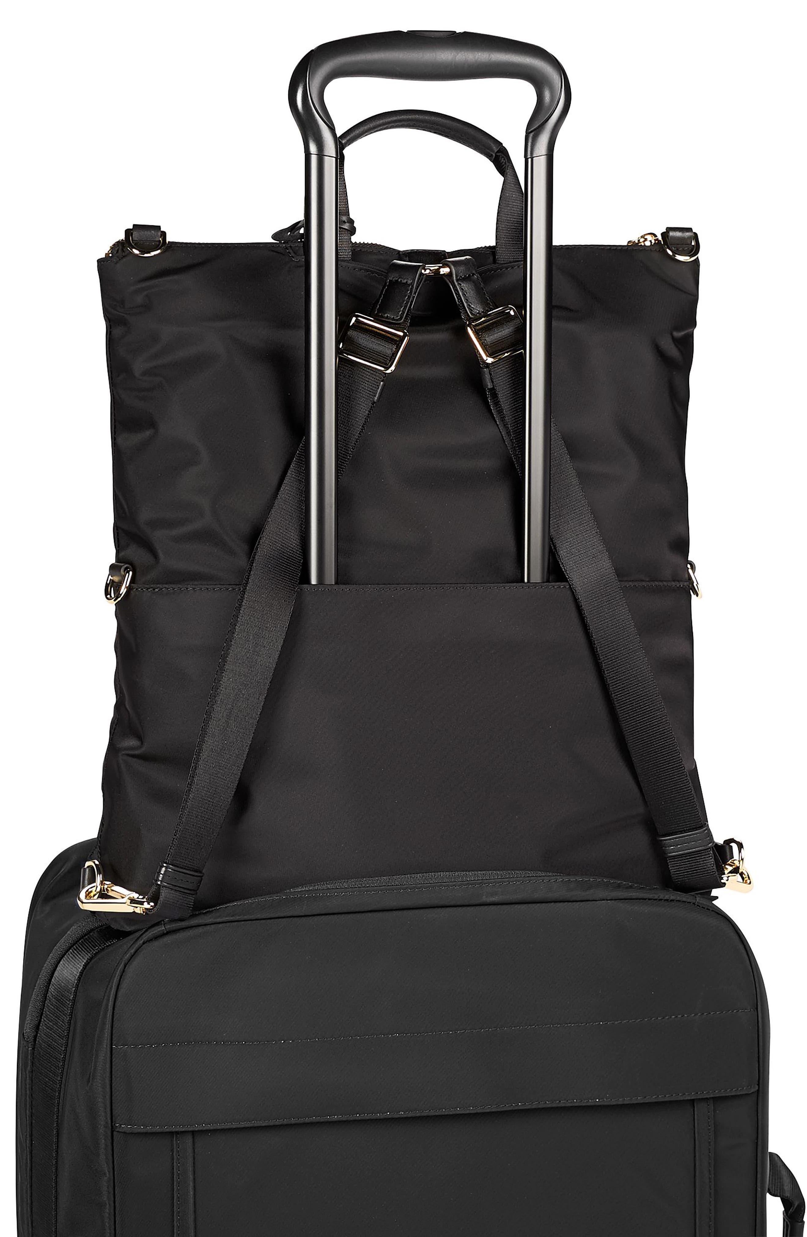 TUMI, Voyageur Jena Nylon Convertible Backpack, Alternate thumbnail 5, color, BLACK