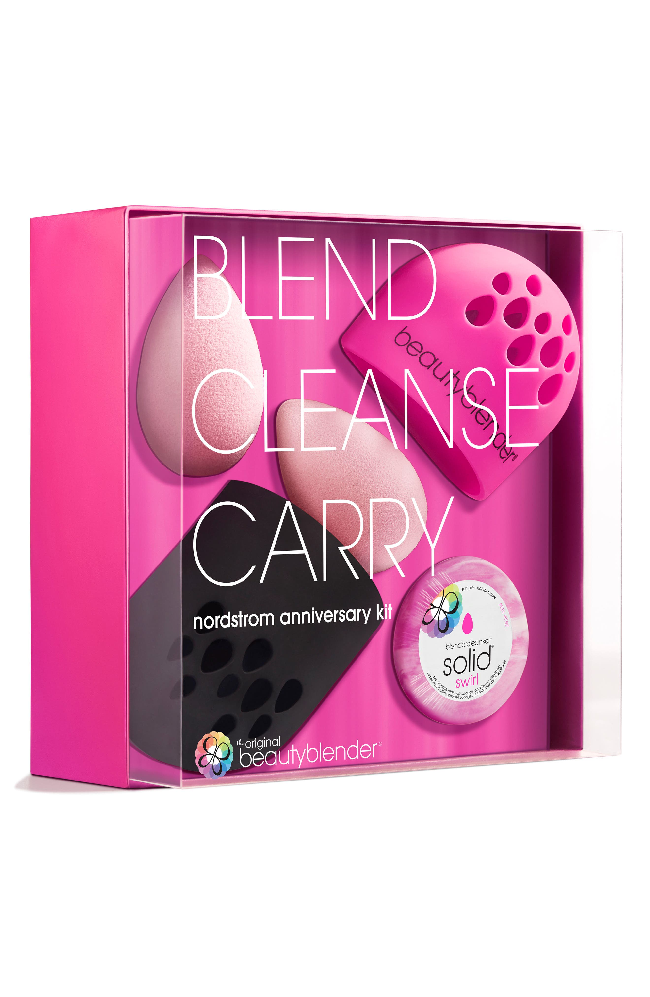 BEAUTYBLENDER<SUP>®</SUP>, blend.cleanse.carry Set, Alternate thumbnail 4, color, 000