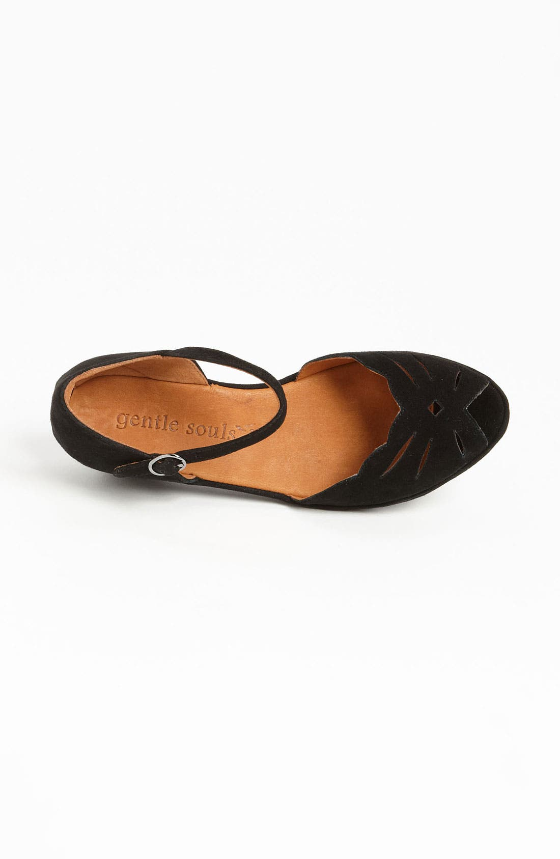 GENTLE SOULS BY KENNETH COLE, 'Lily Moon' Sandal, Alternate thumbnail 3, color, BLACK