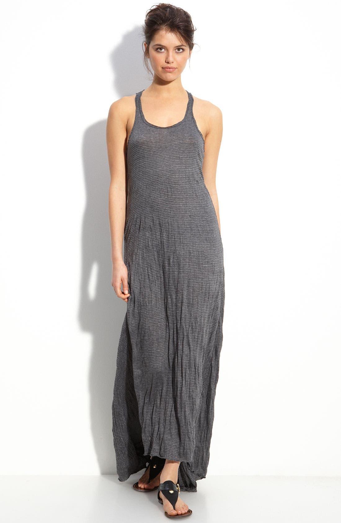 FREE PEOPLE, Mini Stripe Maxi Dress, Main thumbnail 1, color, 001