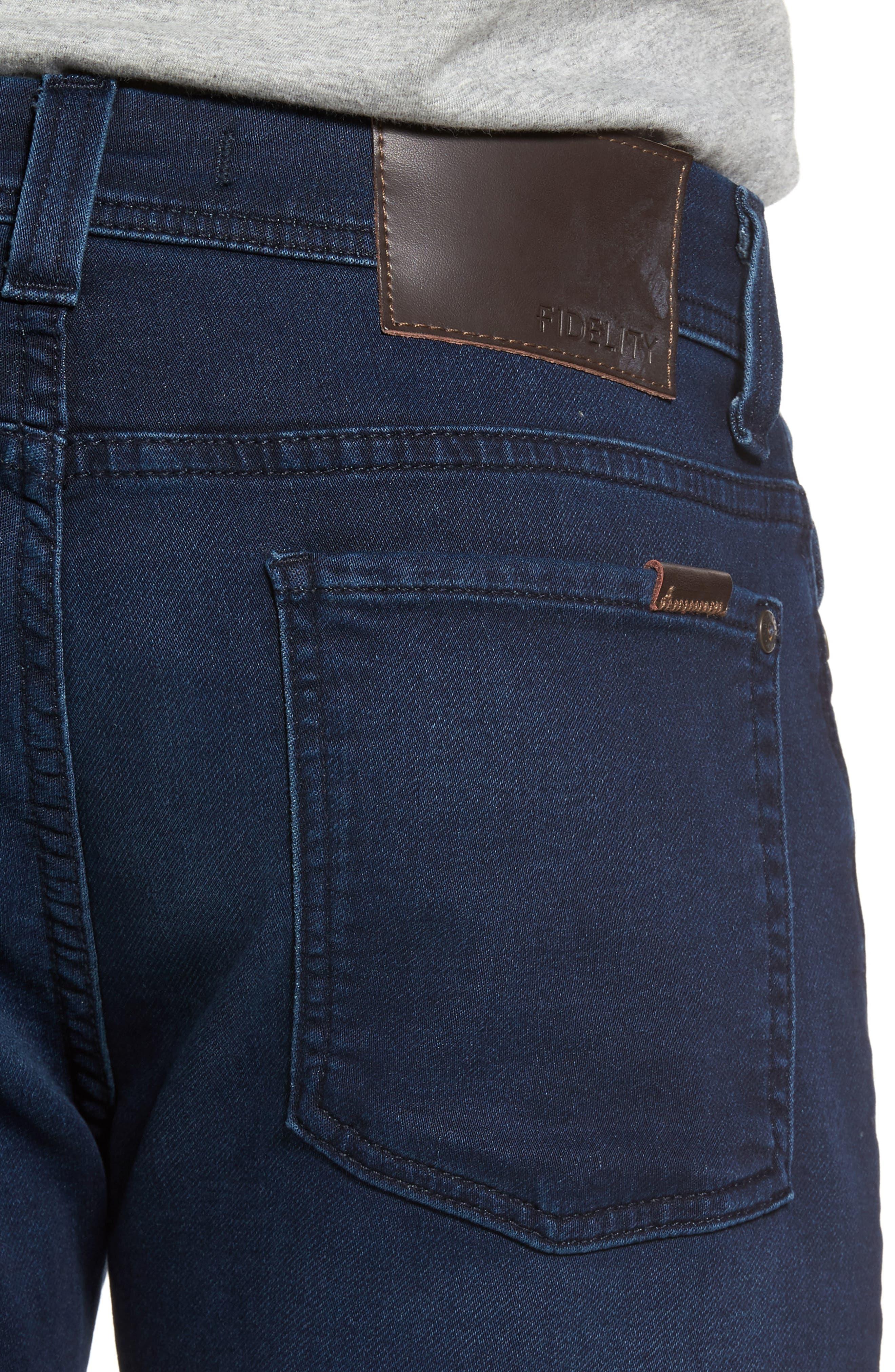 FIDELITY DENIM, Jimmy Slim Straight Leg Jeans, Alternate thumbnail 4, color, 400