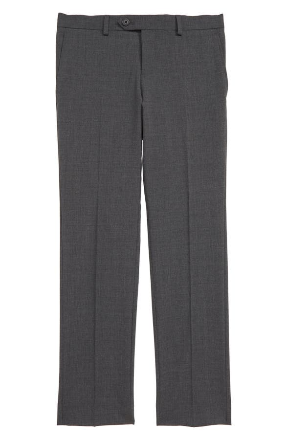 890fc5585 Tallia Solid Wool Blend Flat Front Trousers (Big Boys) | Nordstrom