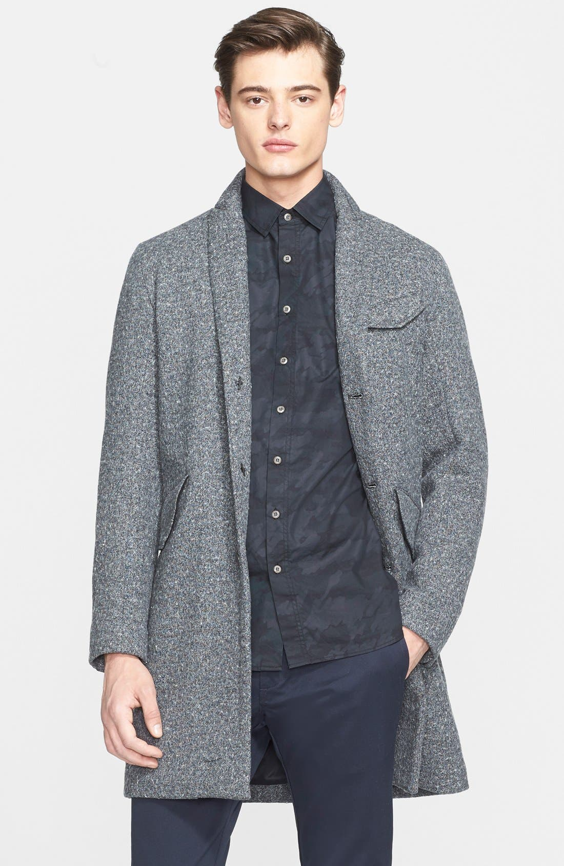 WINGS + HORNS Cotton Blend Topcoat, Main, color, 020